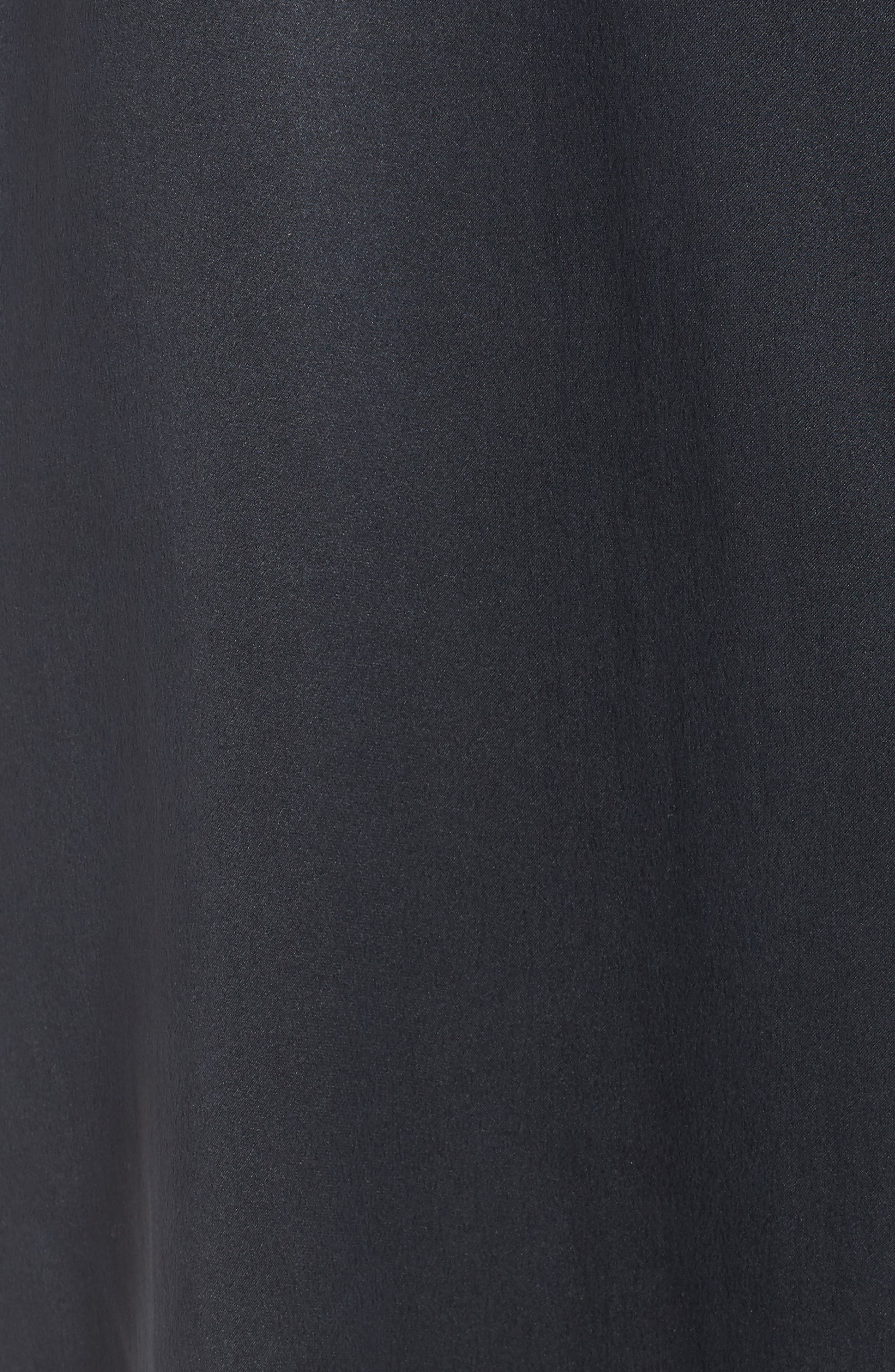 Silk Shirtdress,                             Alternate thumbnail 5, color,                             Graphite