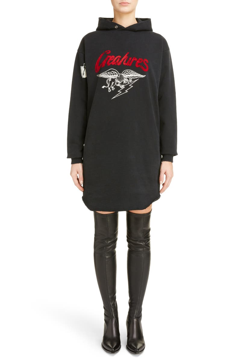 Creatures Hoodie Sweatshirt Dress