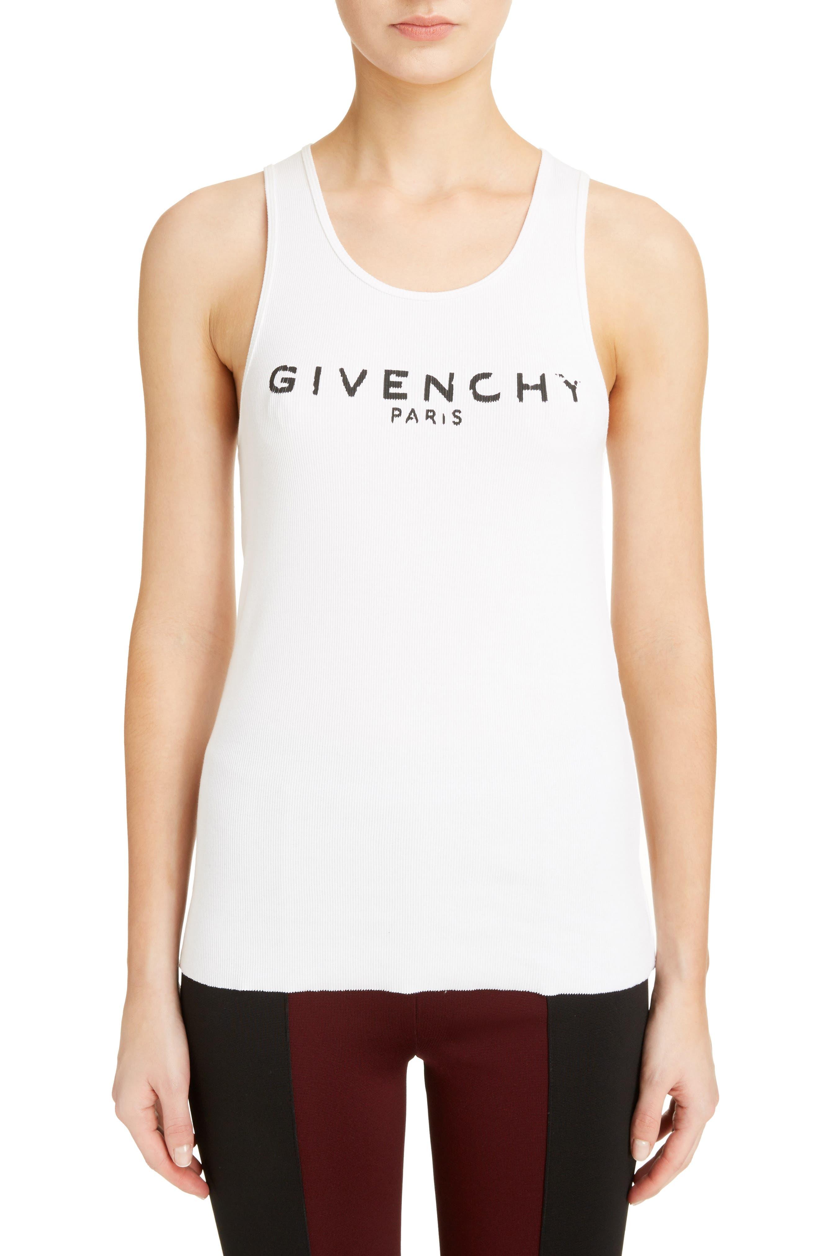 Givenchy Logo Ribbed Tank Top