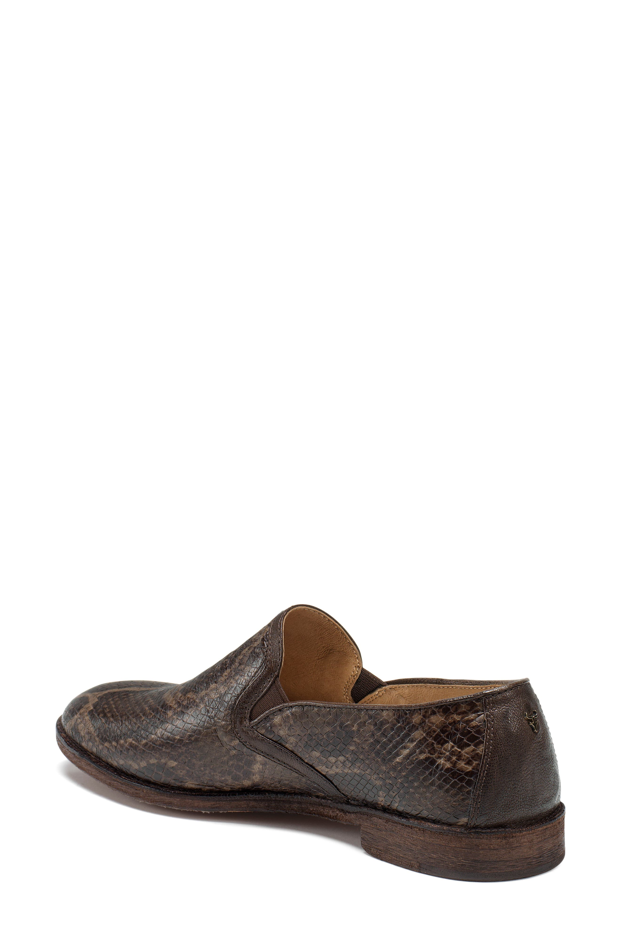 'Ali' Flat,                             Alternate thumbnail 2, color,                             Brown Print Leather
