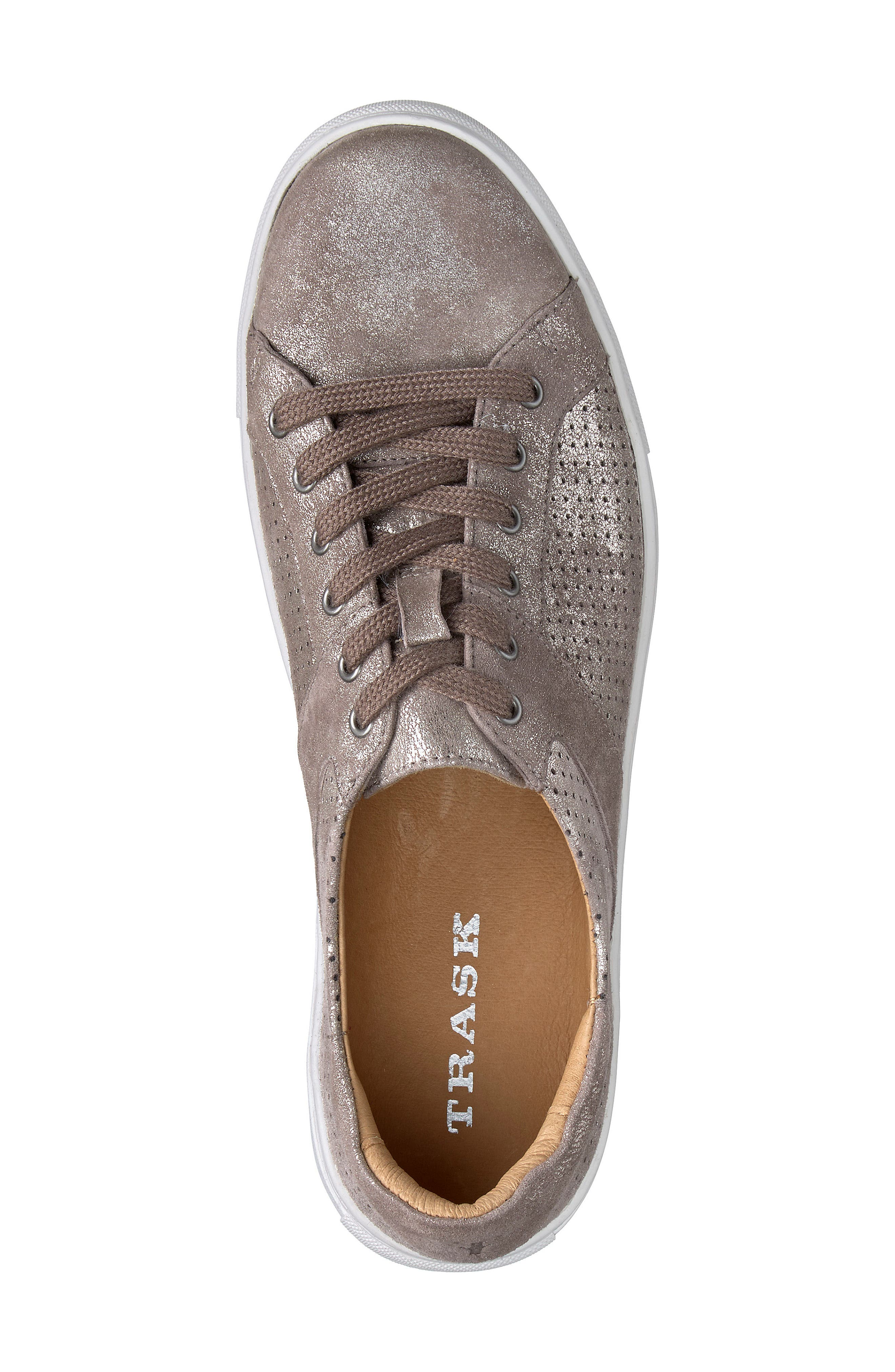Lindsey Sneaker,                             Alternate thumbnail 5, color,                             Pewter Suede