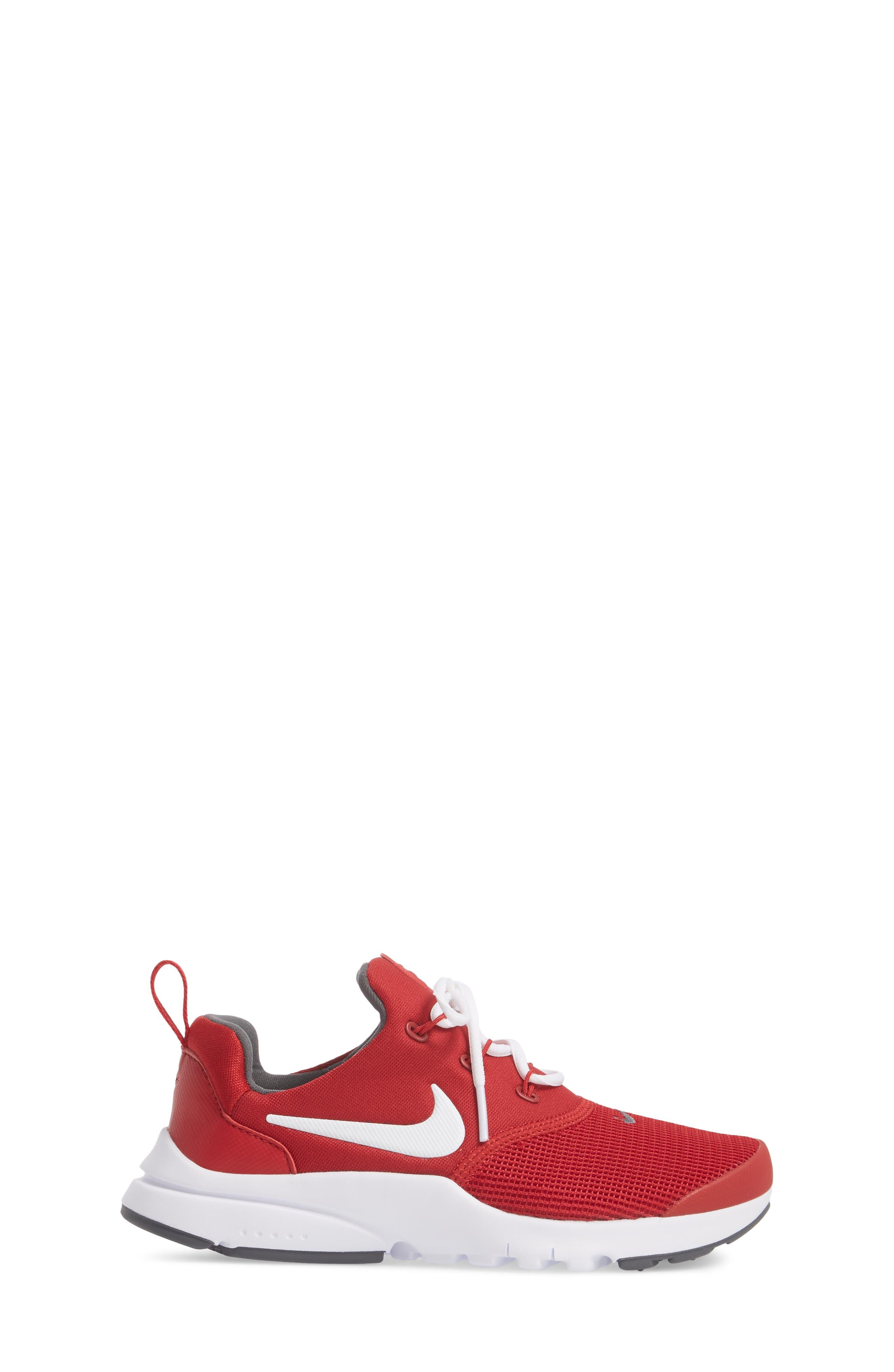 Presto Fly Sneaker,                             Alternate thumbnail 3, color,                             Gym Red/ Dark Grey/ White