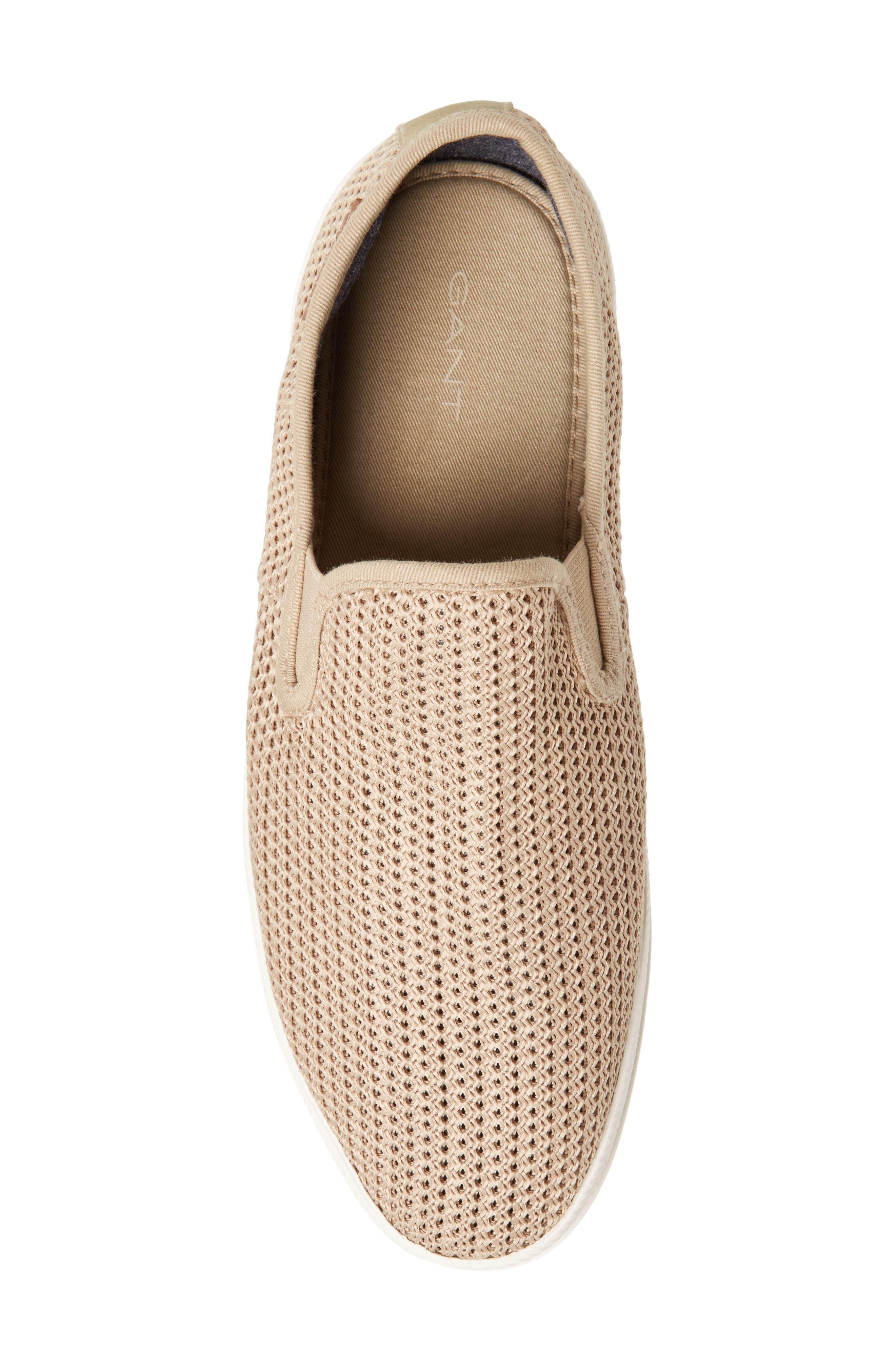 Viktor Woven Slip-On Sneaker,                             Alternate thumbnail 5, color,                             Dry Sand