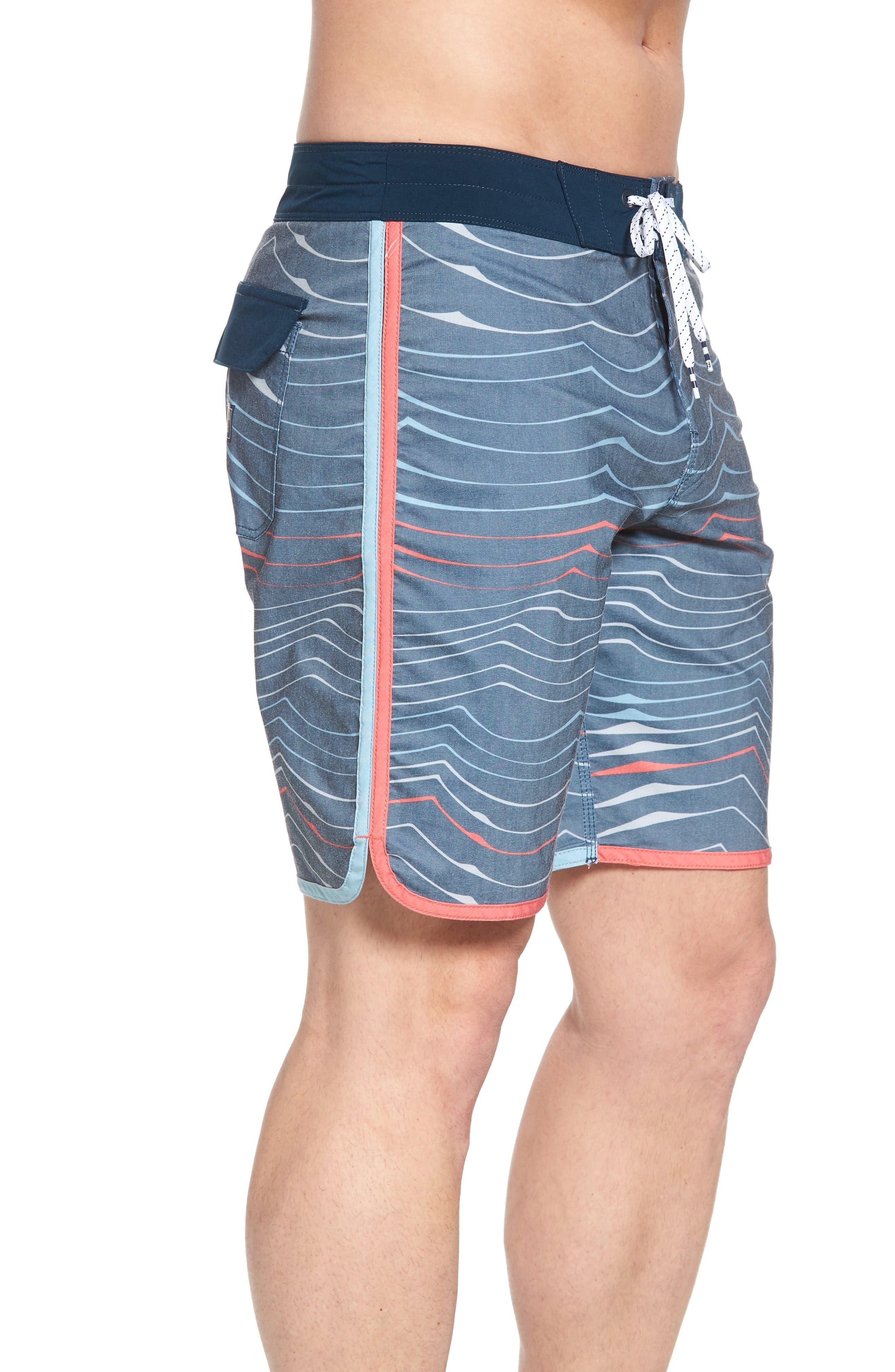 73 X Lineup Board Shorts,                             Alternate thumbnail 4, color,                             Navy