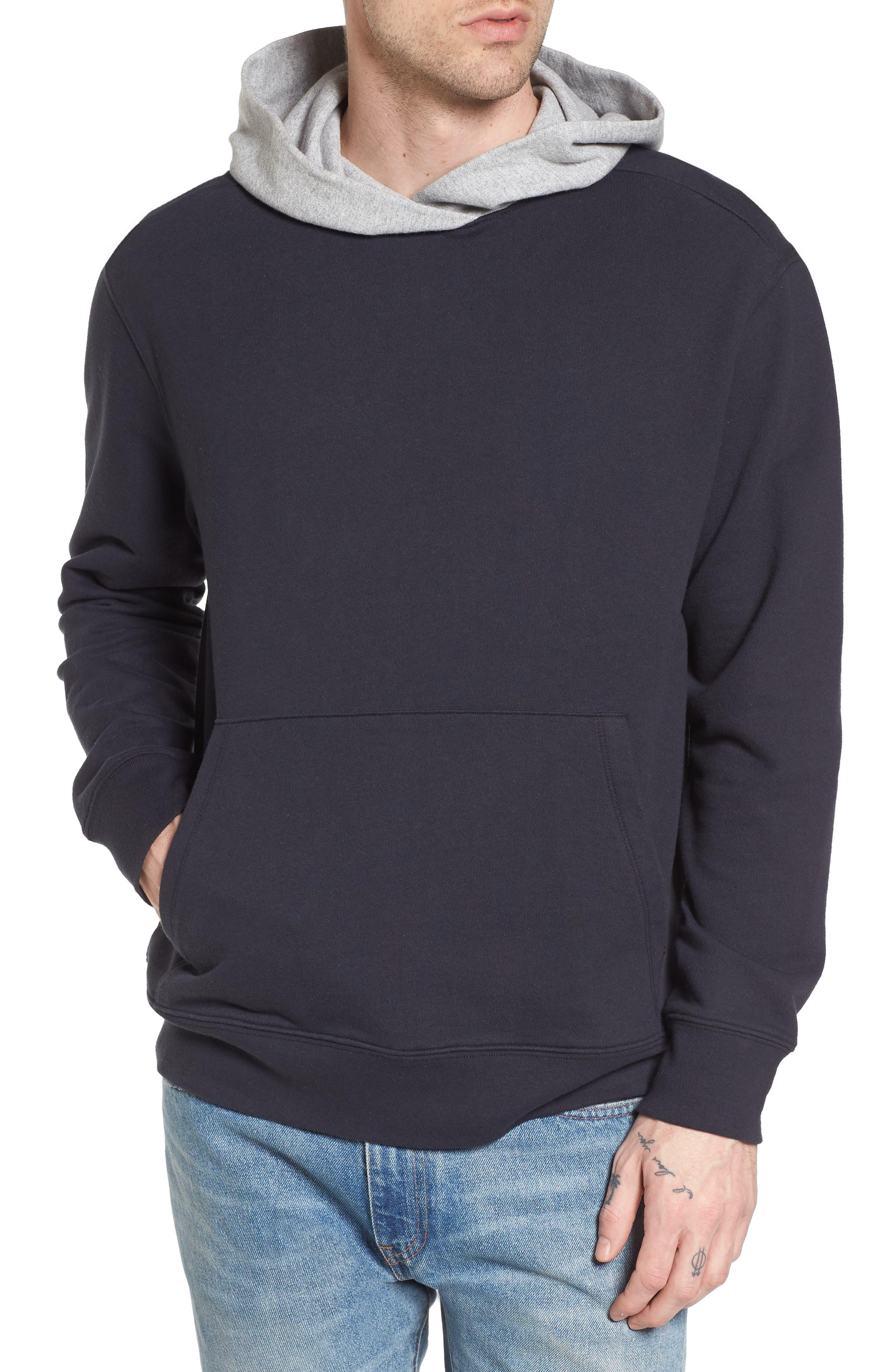 Colorblock Hoodie Sweatshirt,                         Main,                         color, Black Rock/ Grey Heather