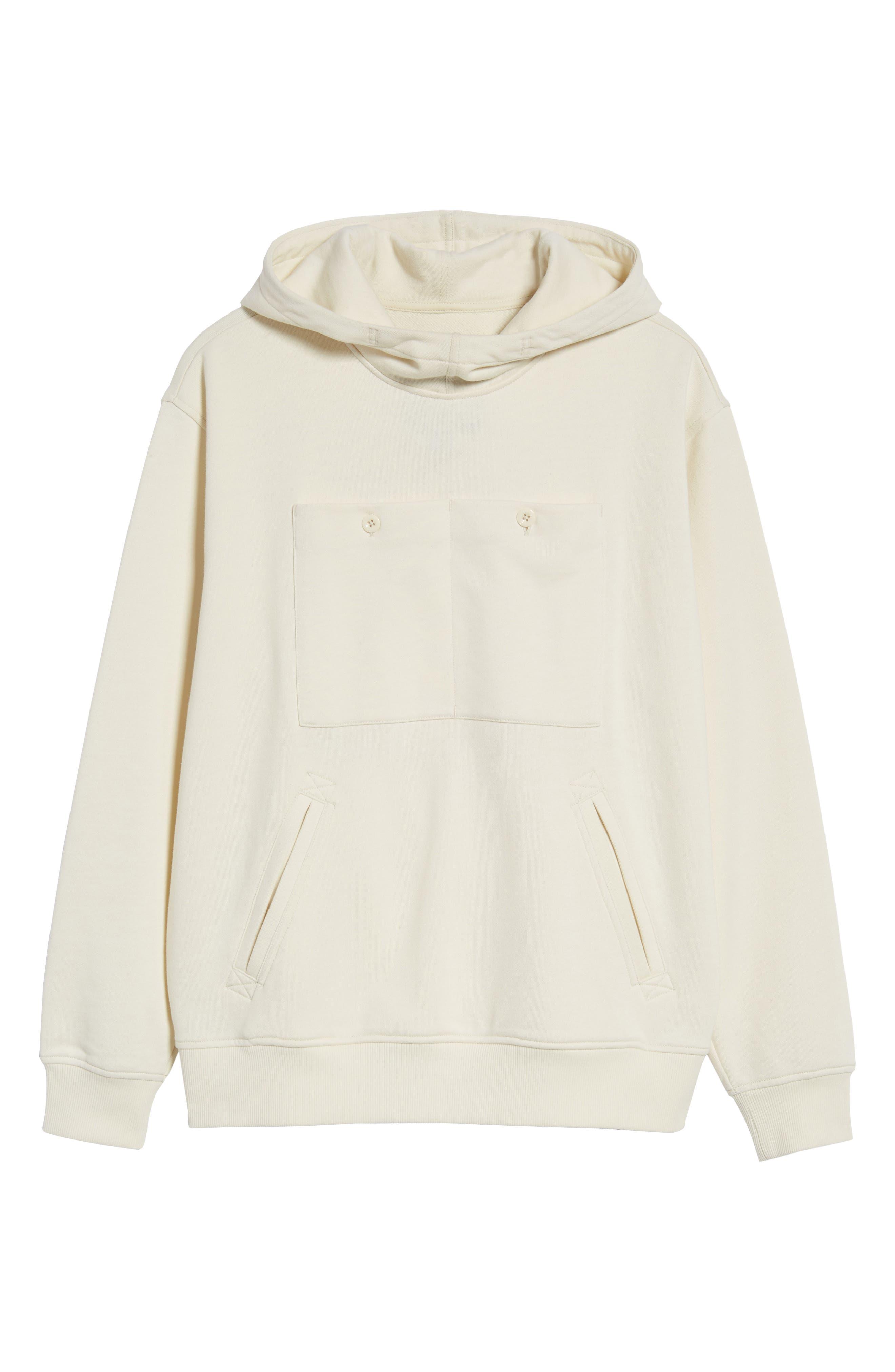 Core Hybrid Archive Hooded Sweatshirt,                             Alternate thumbnail 6, color,                             Ivory