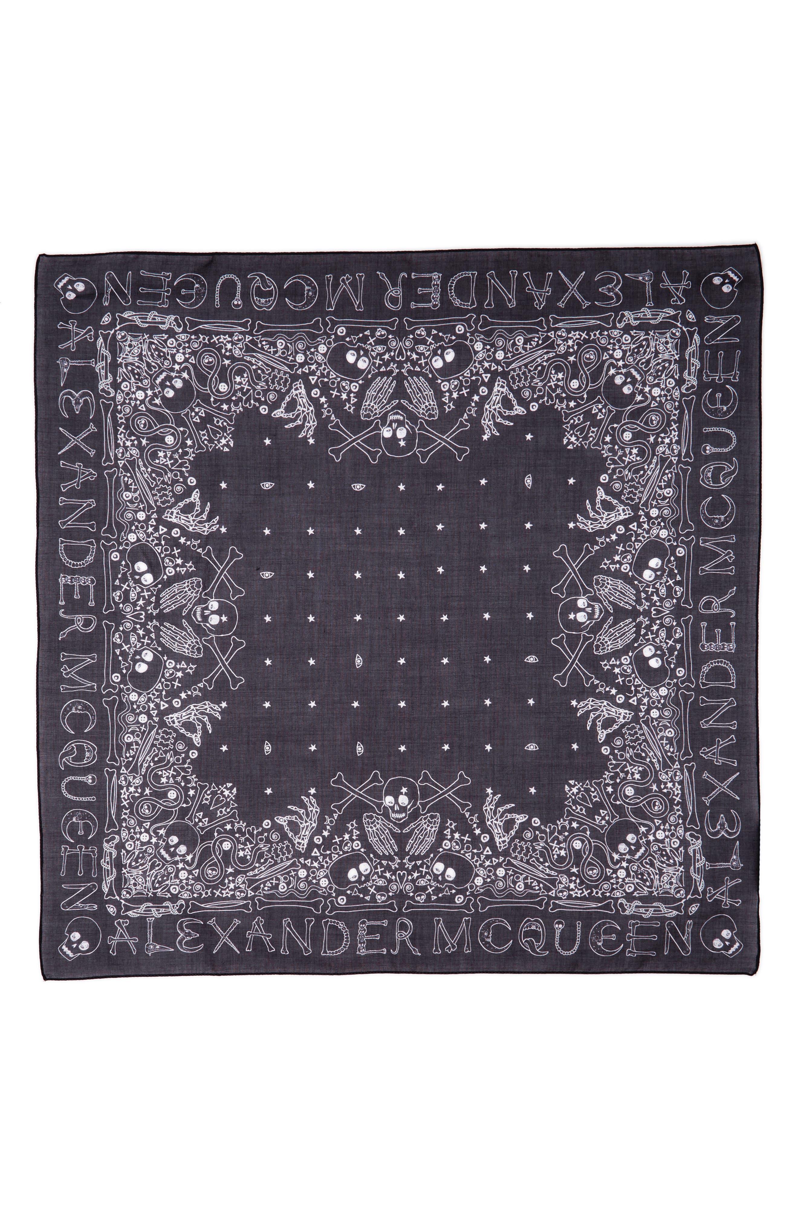 Alexander McQueen Logo Cotton Bandana