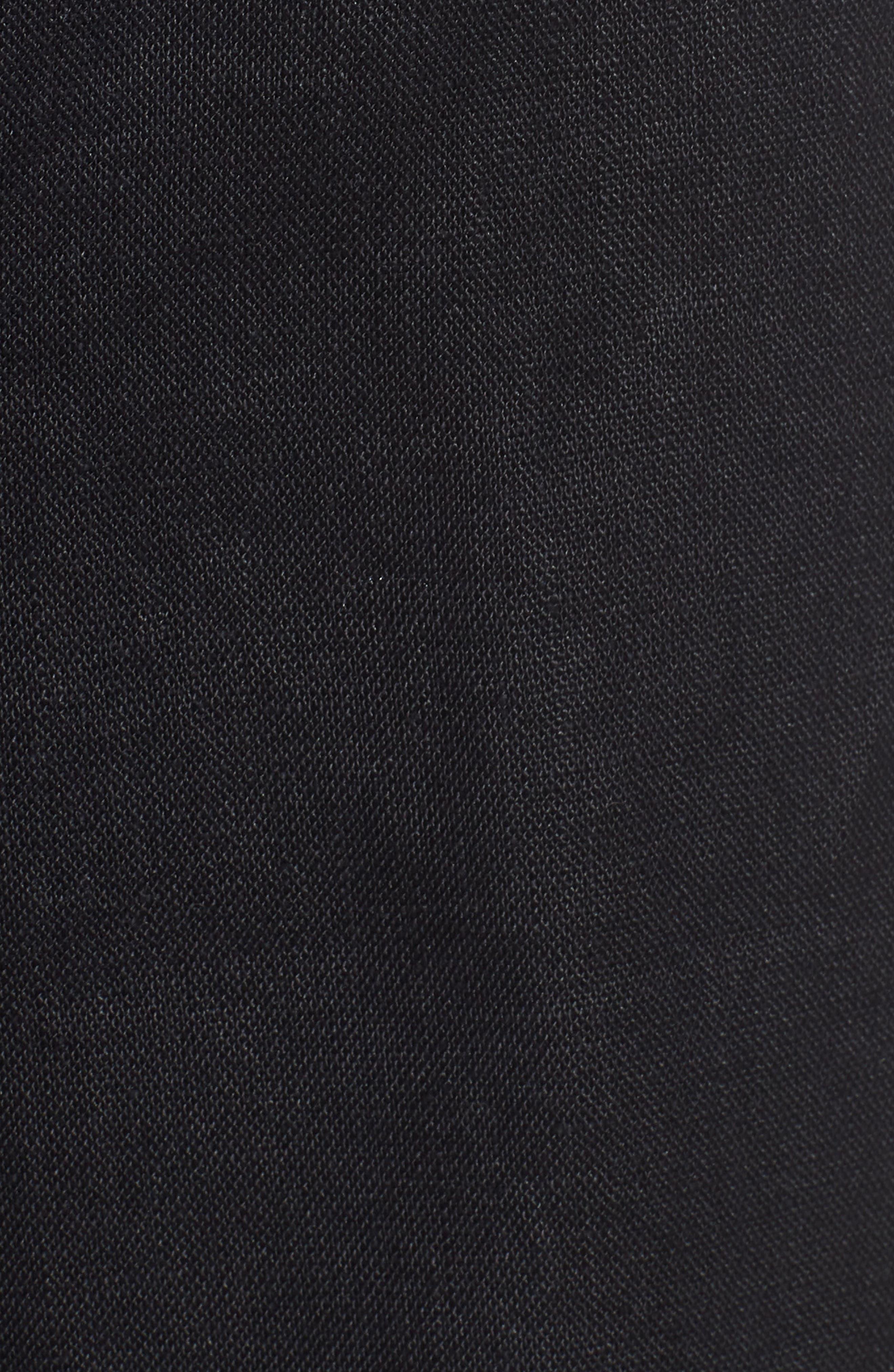 Wide Leg Organic Linen Pants,                             Alternate thumbnail 6, color,                             Black
