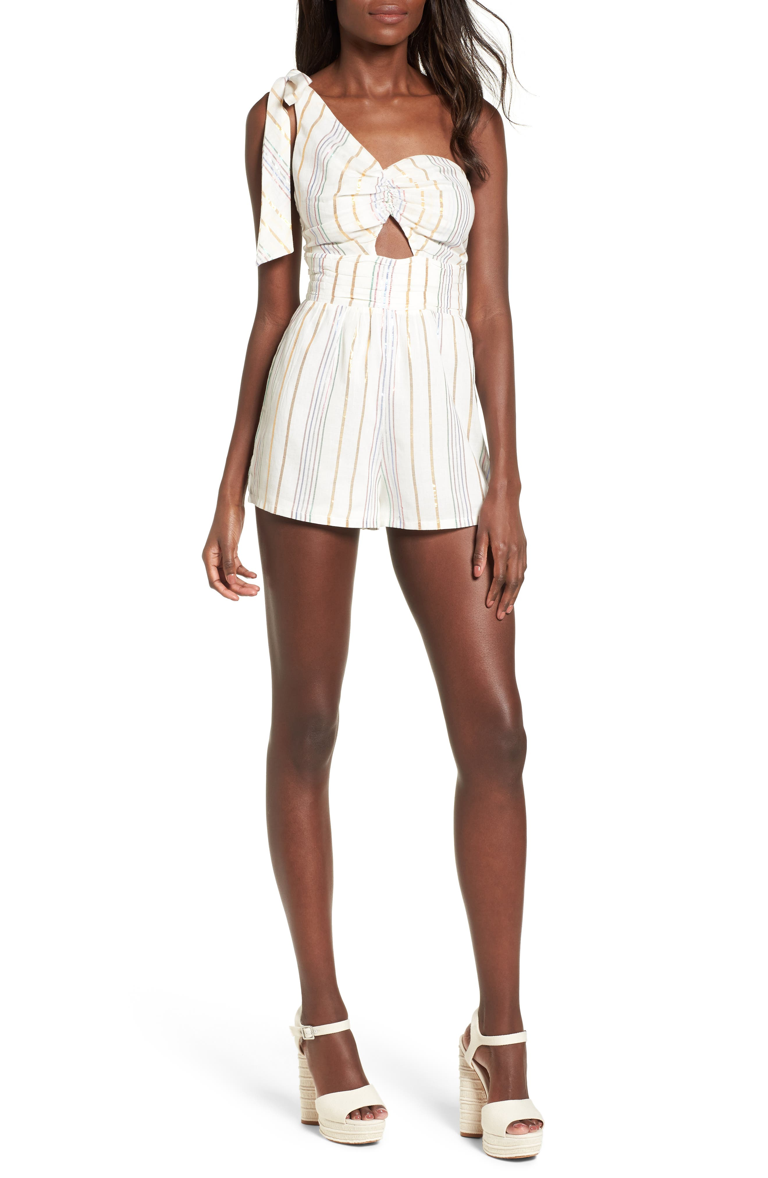Tularosa Zana One-Shoulder Romper
