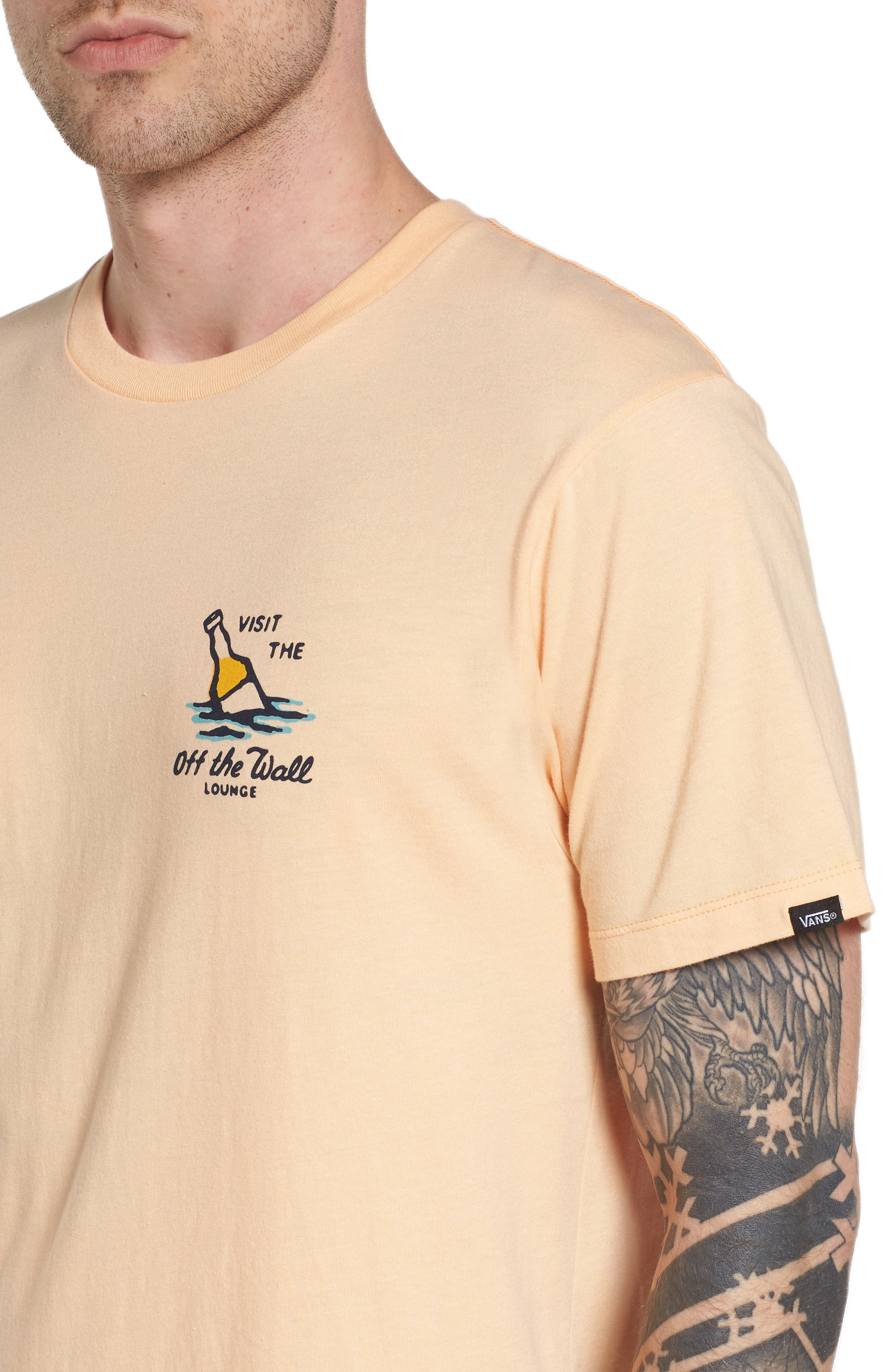 Off the Wall Lounge T-Shirt,                             Alternate thumbnail 4, color,                             Apricot Ice