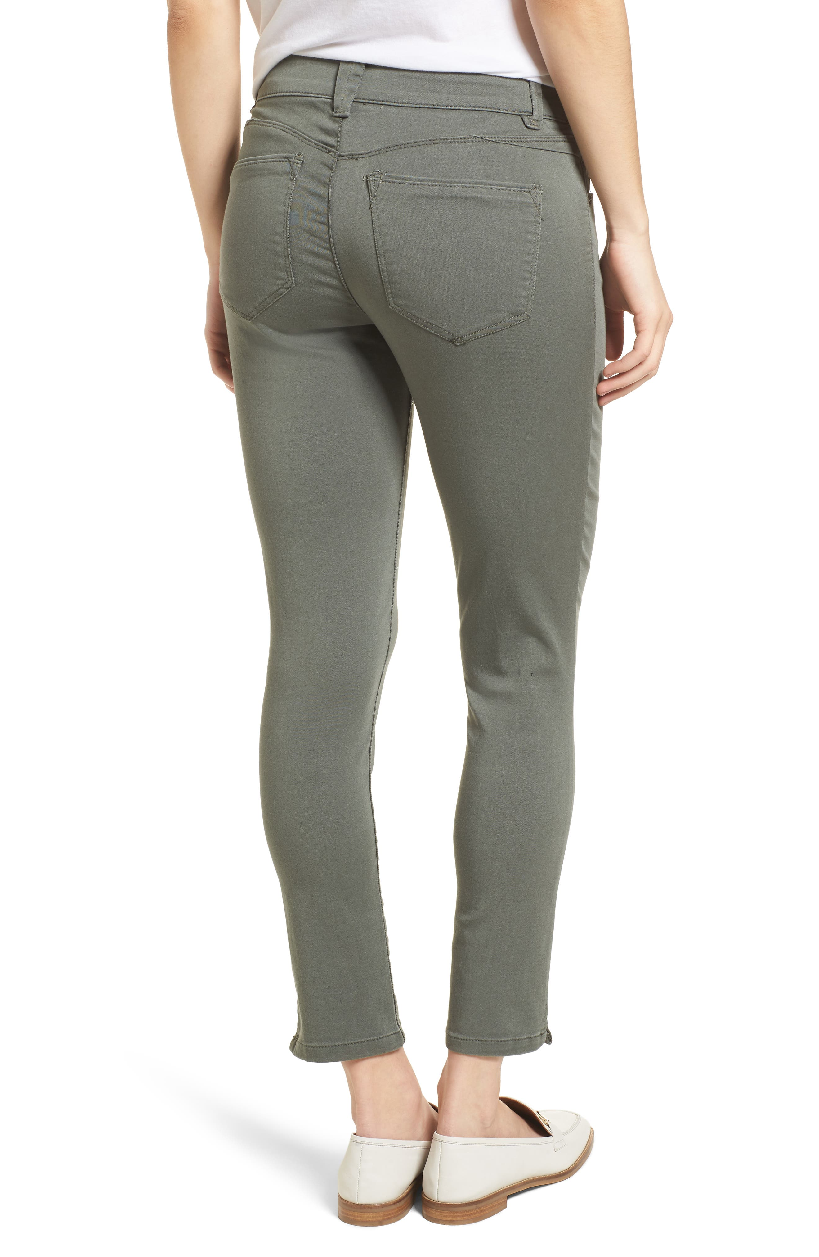 Ab-solution Ankle Skimmer Jeans,                             Alternate thumbnail 2, color,                             Thyme