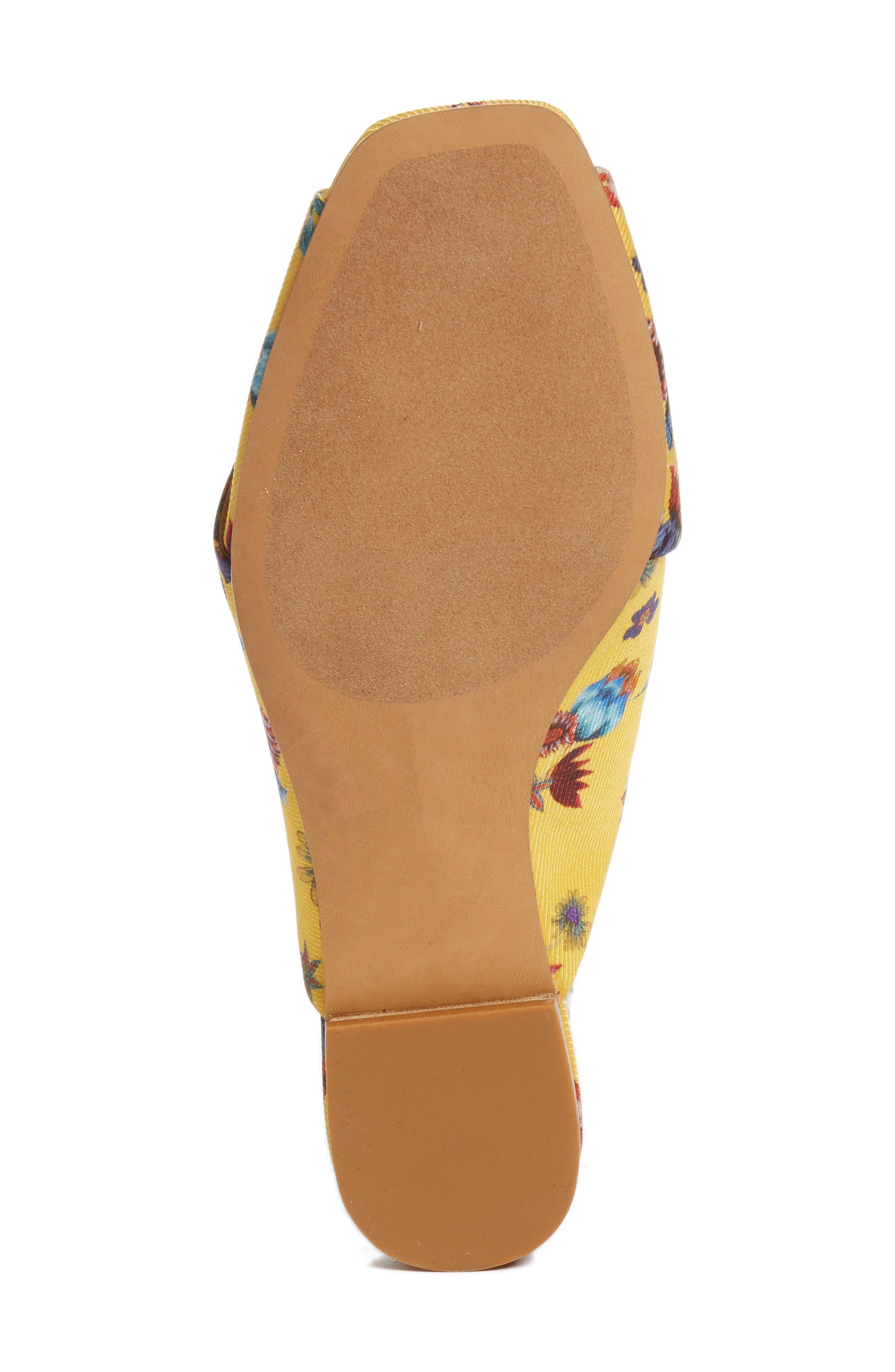 Anden Slide Sandal,                             Alternate thumbnail 6, color,                             Butterscotch Multi Print Silk
