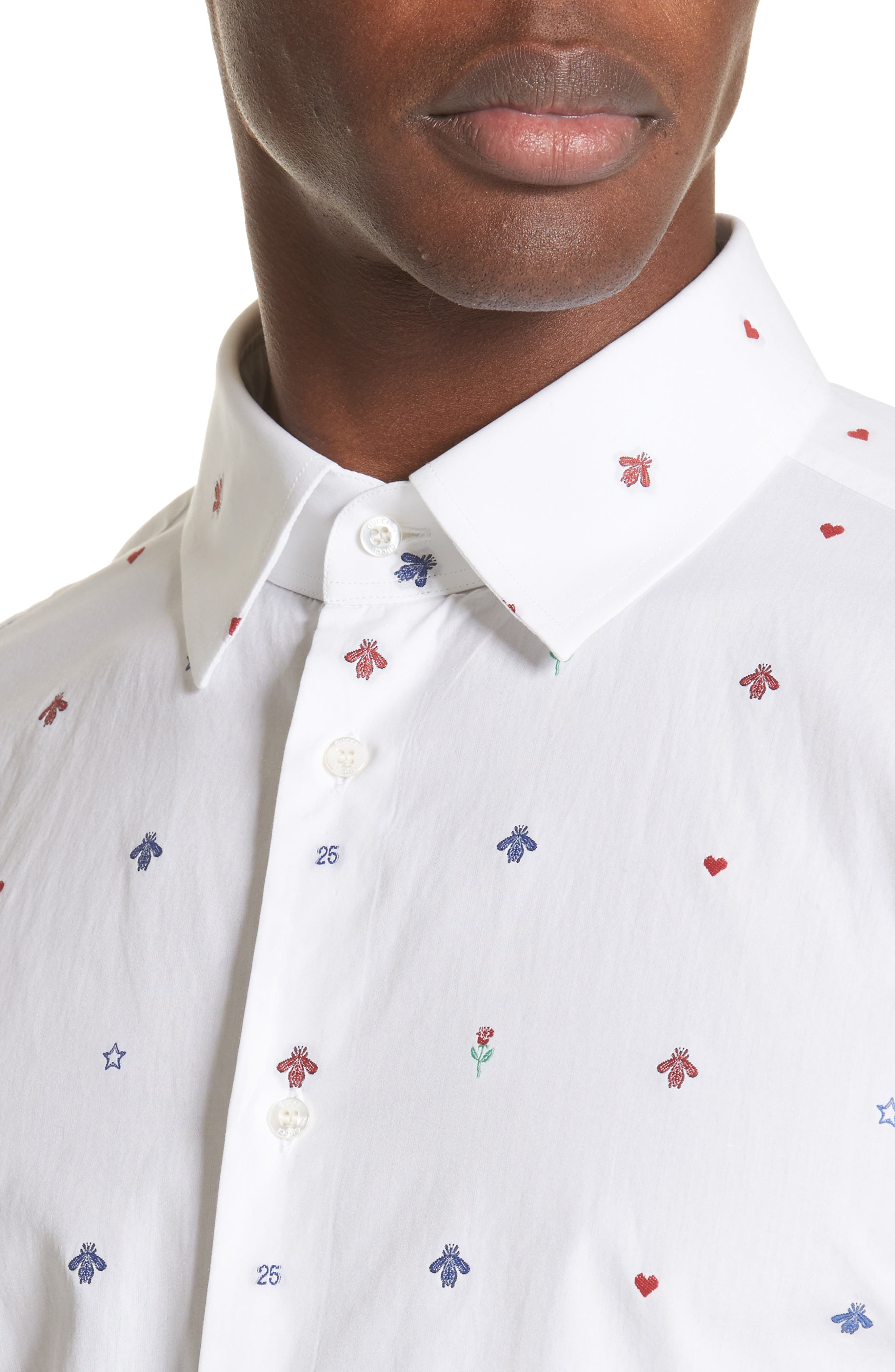 Alternate Image 2  - Gucci Allover Bee Print Woven Shirt