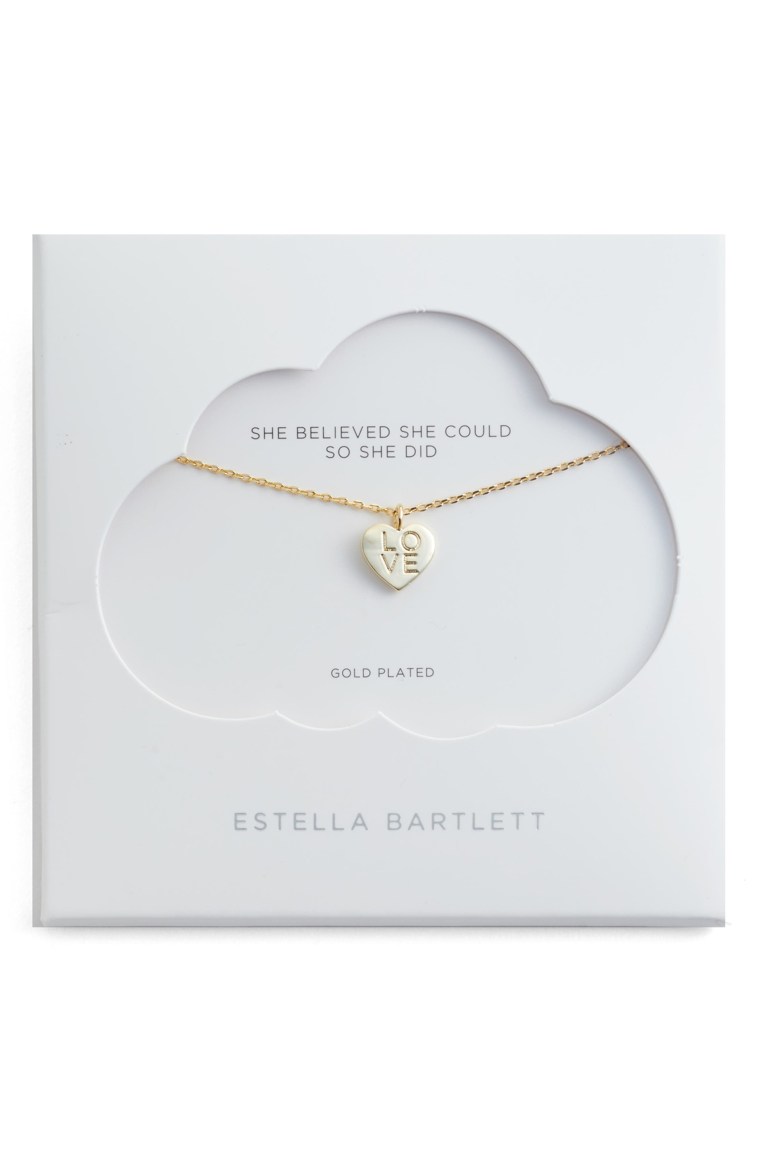 Love Letter Heart Necklace,                         Main,                         color, Gold