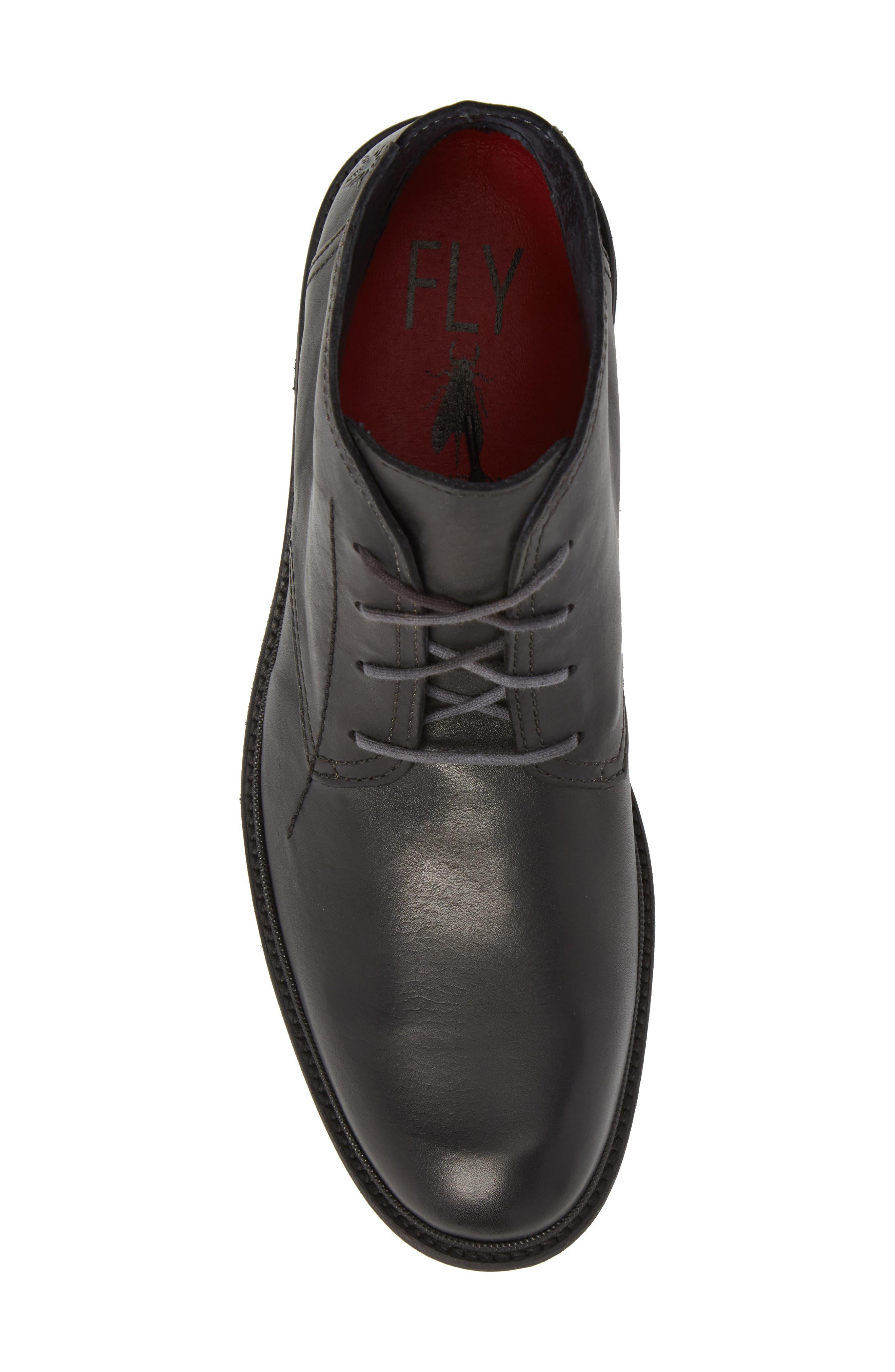 Hobi Plain Toe Chukka Boot,                             Alternate thumbnail 5, color,                             Black Leather