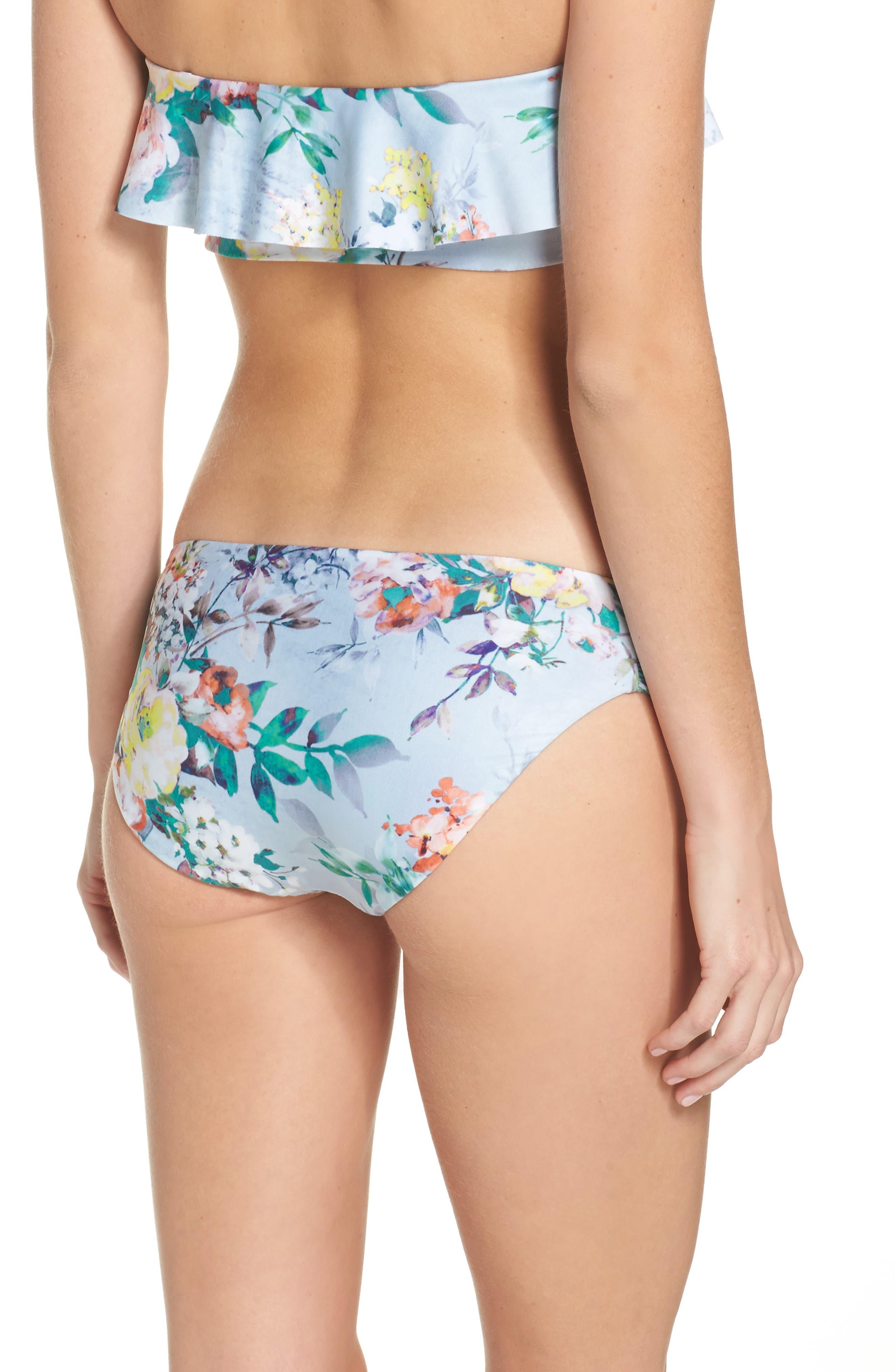Femme Flora Hipster Bikini Bottoms,                             Alternate thumbnail 2, color,                             Blue Multi