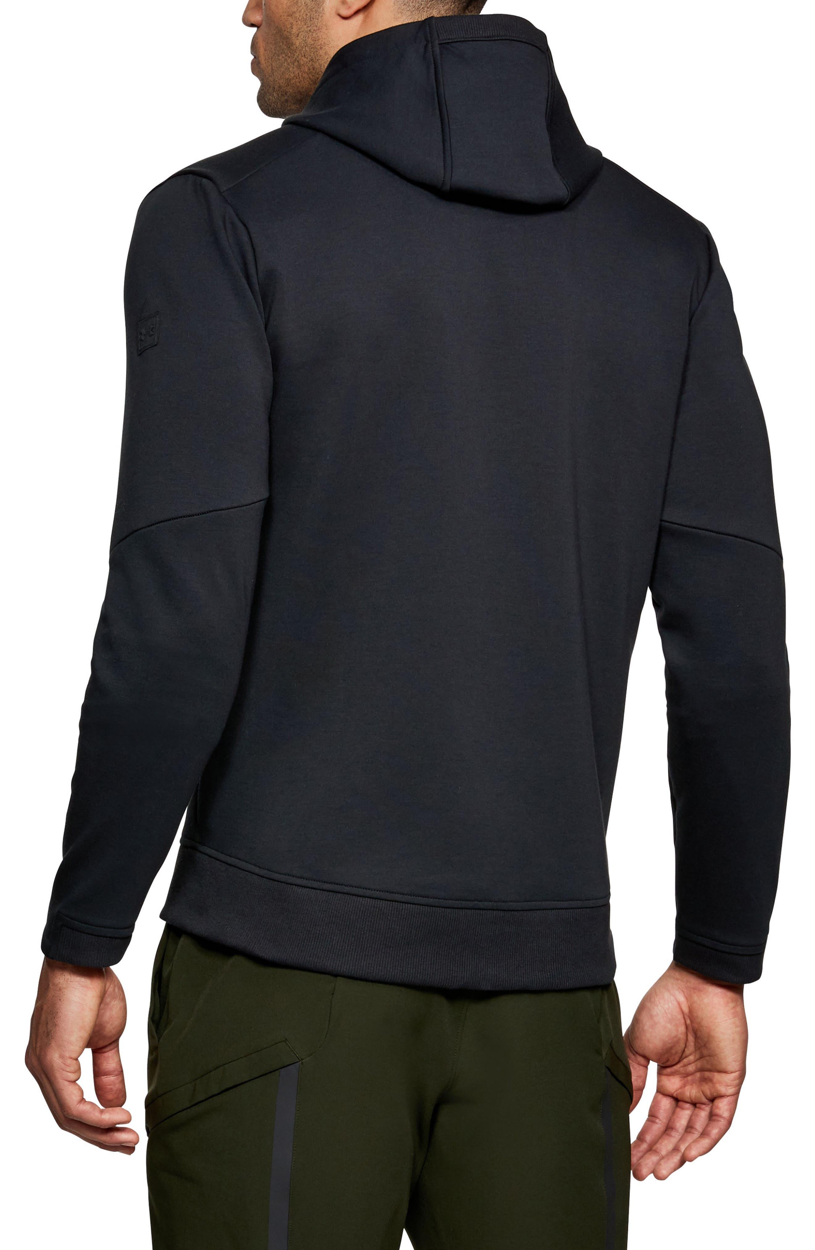 Sportstyle Elite Zip Hoodie,                             Alternate thumbnail 2, color,                             Black/ Black