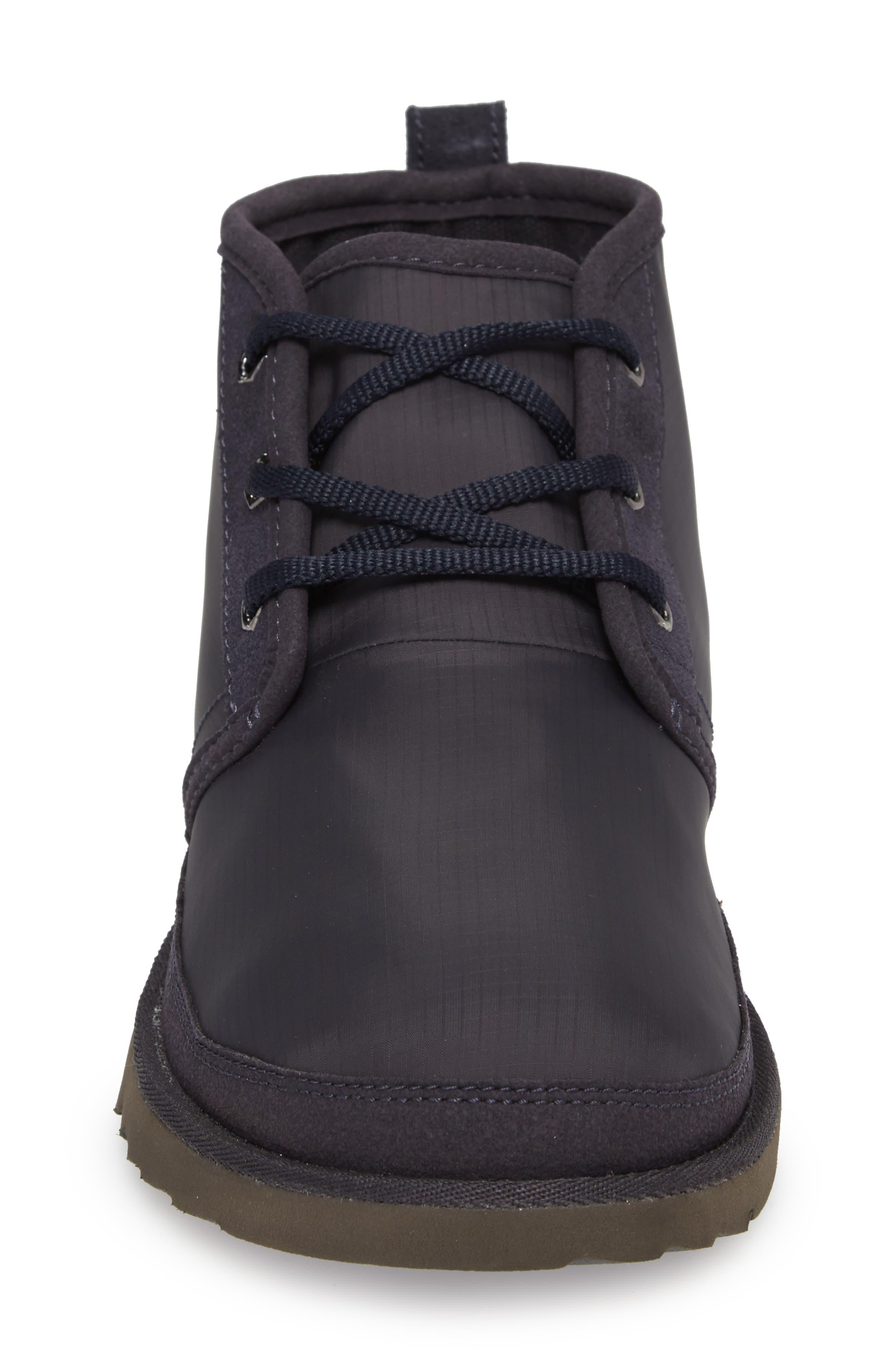 Neumel Ripstop Chukka Boot,                             Alternate thumbnail 4, color,                             True Navy Leather