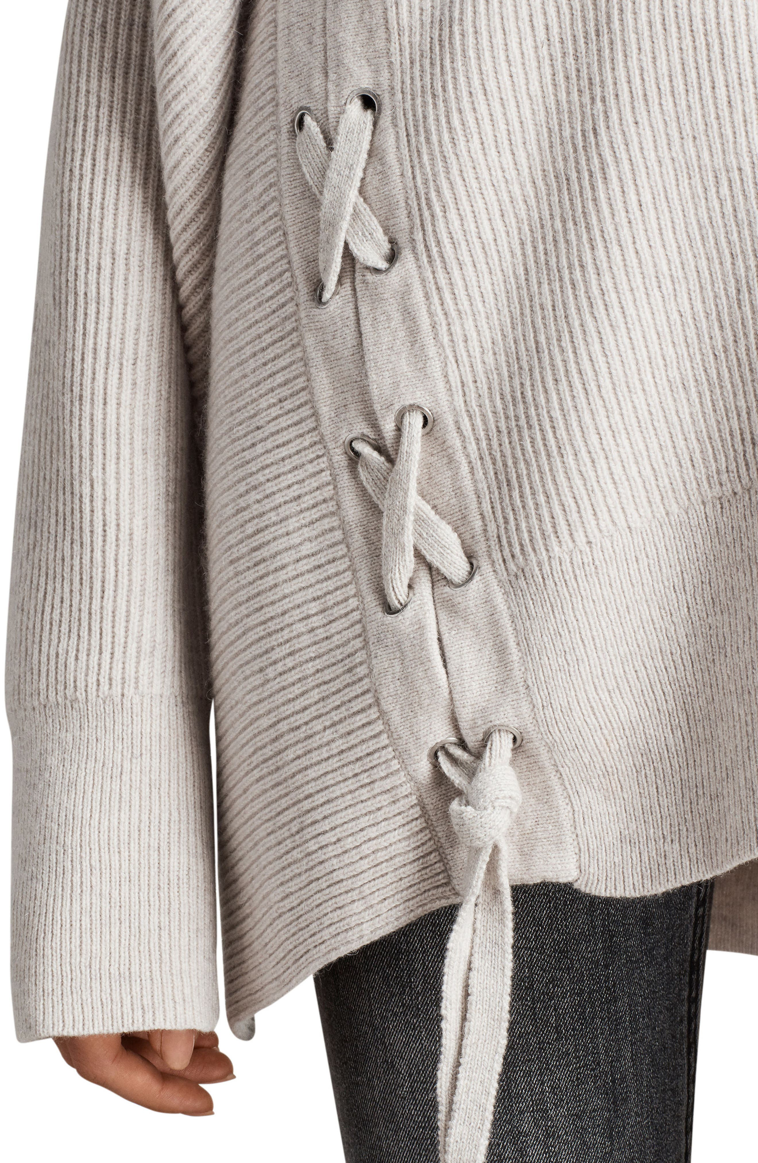 Able Laced Sweater,                             Alternate thumbnail 5, color,                             Porcelain White