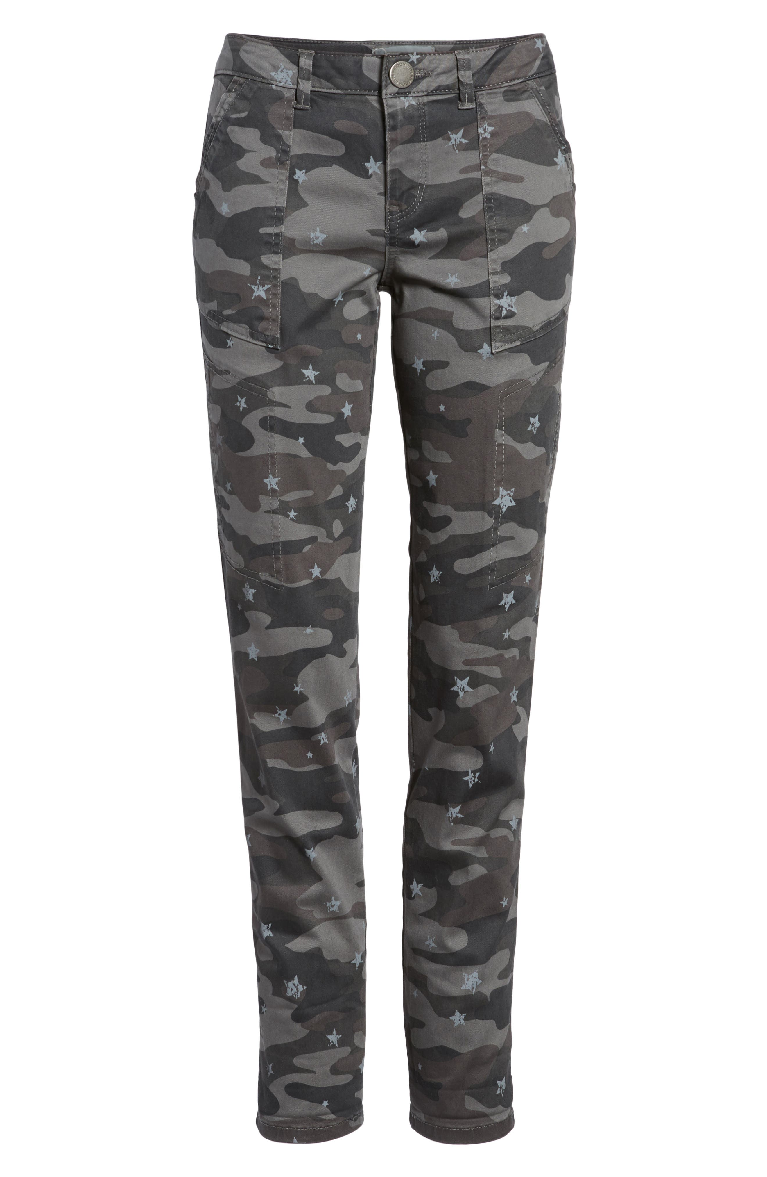 Twill Star Camo Cargo Pants,                             Alternate thumbnail 7, color,                             Cc- Charcoal