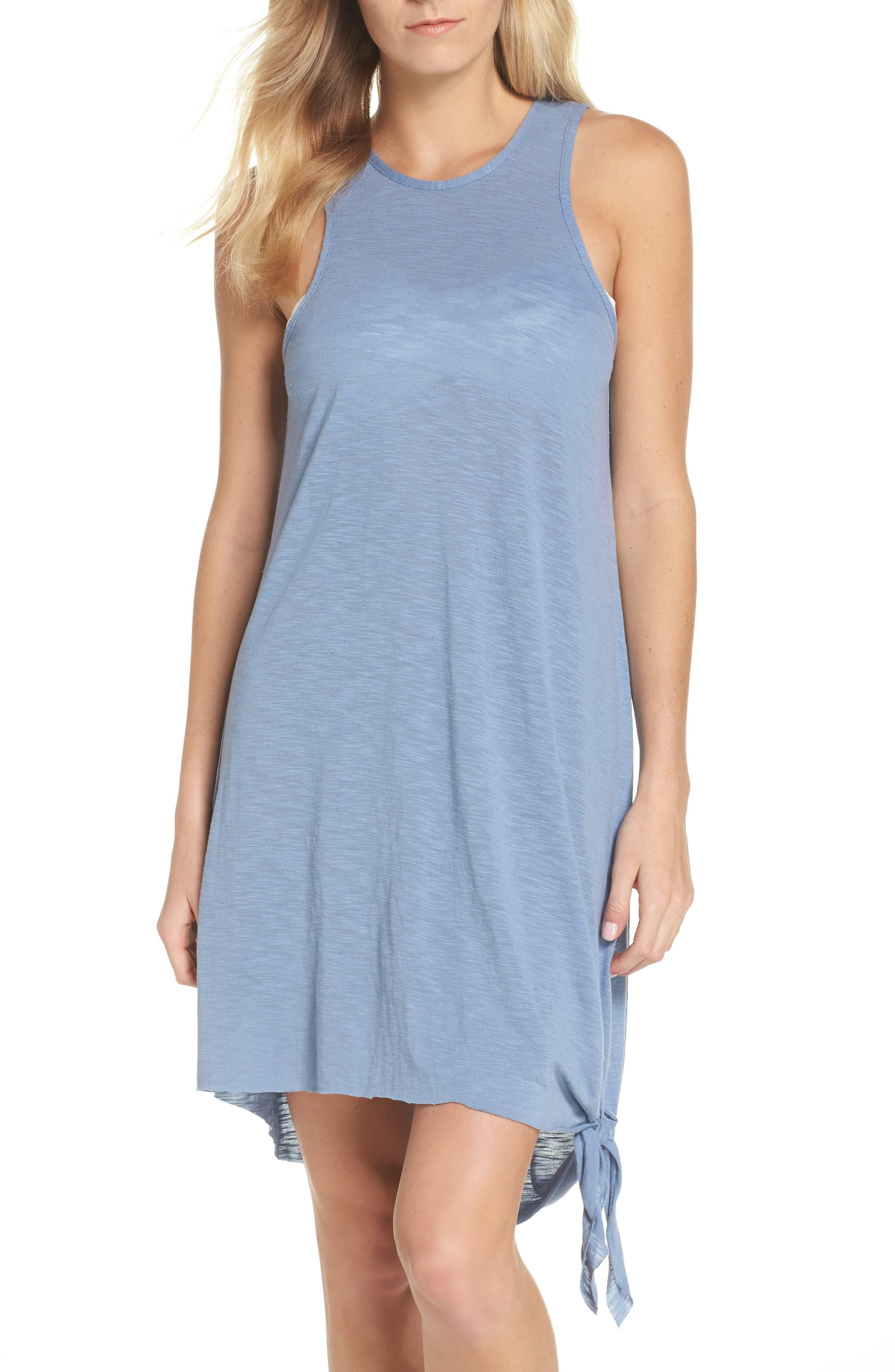 Breezy Basics Cover-Up Dress,                             Main thumbnail 1, color,                             Steel