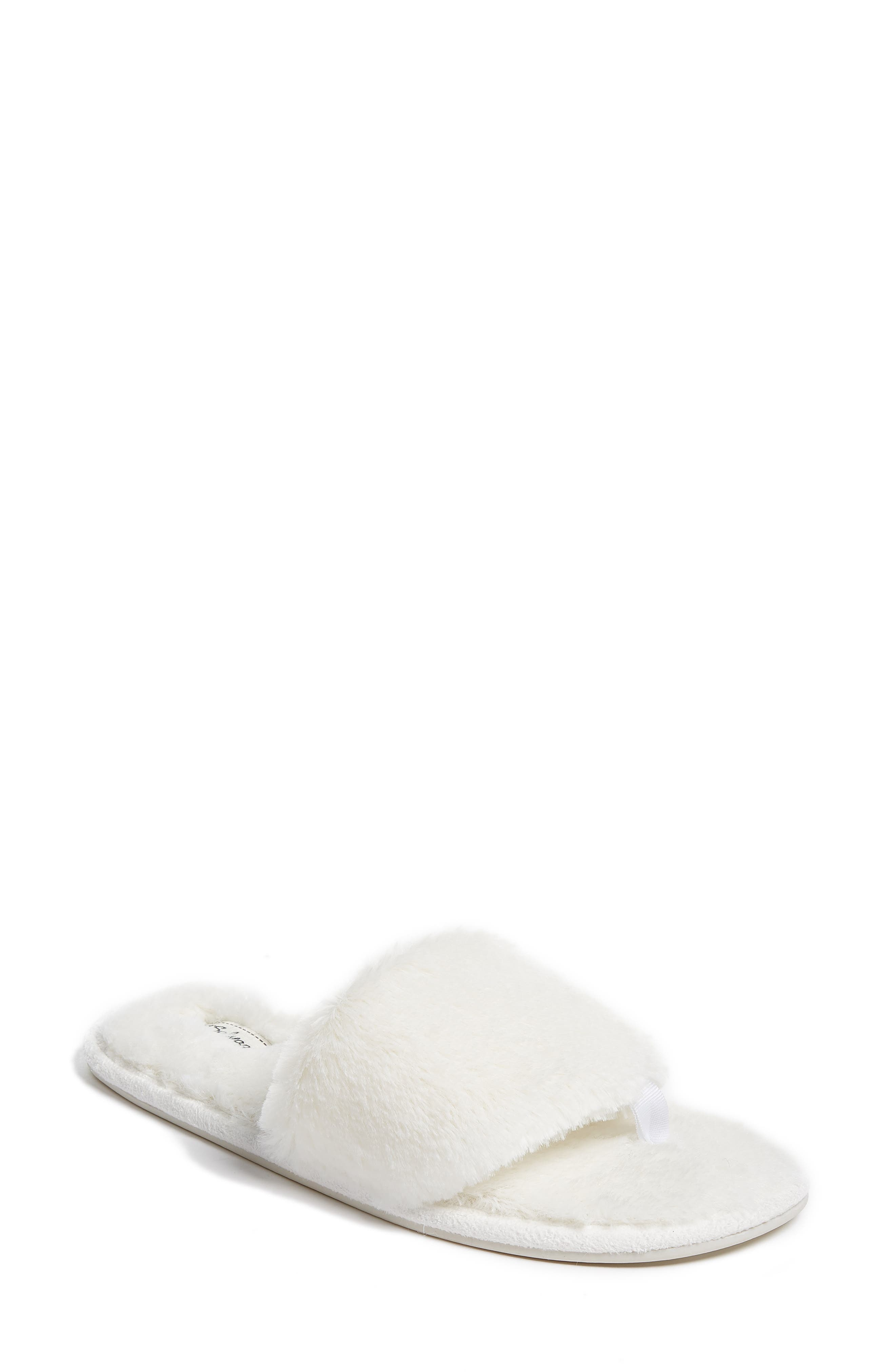 PJ Salvage Faux Fur Slide Slippers