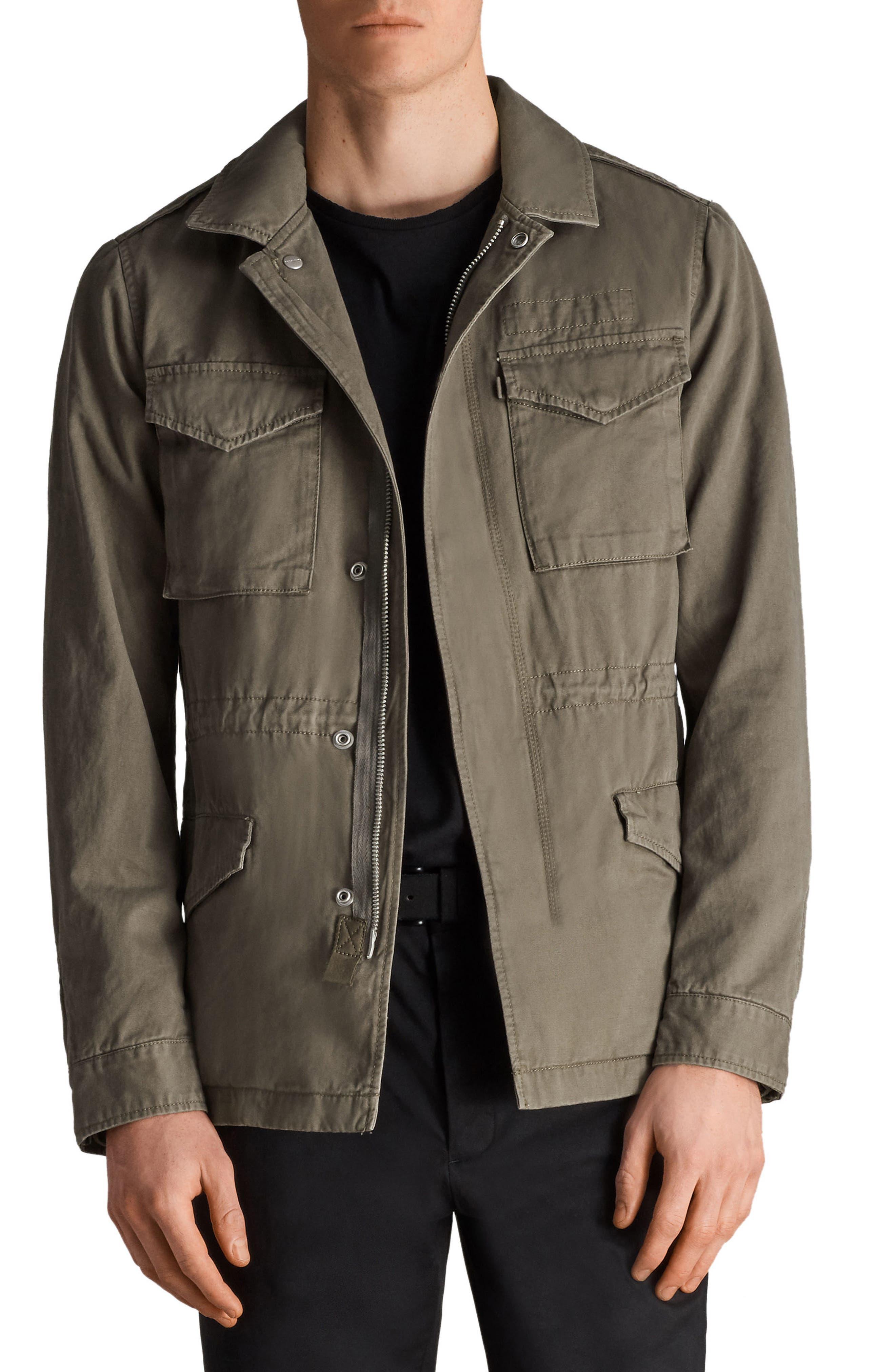 Cote Regular Fit Cotton Jacket,                         Main,                         color, Dusty Olive