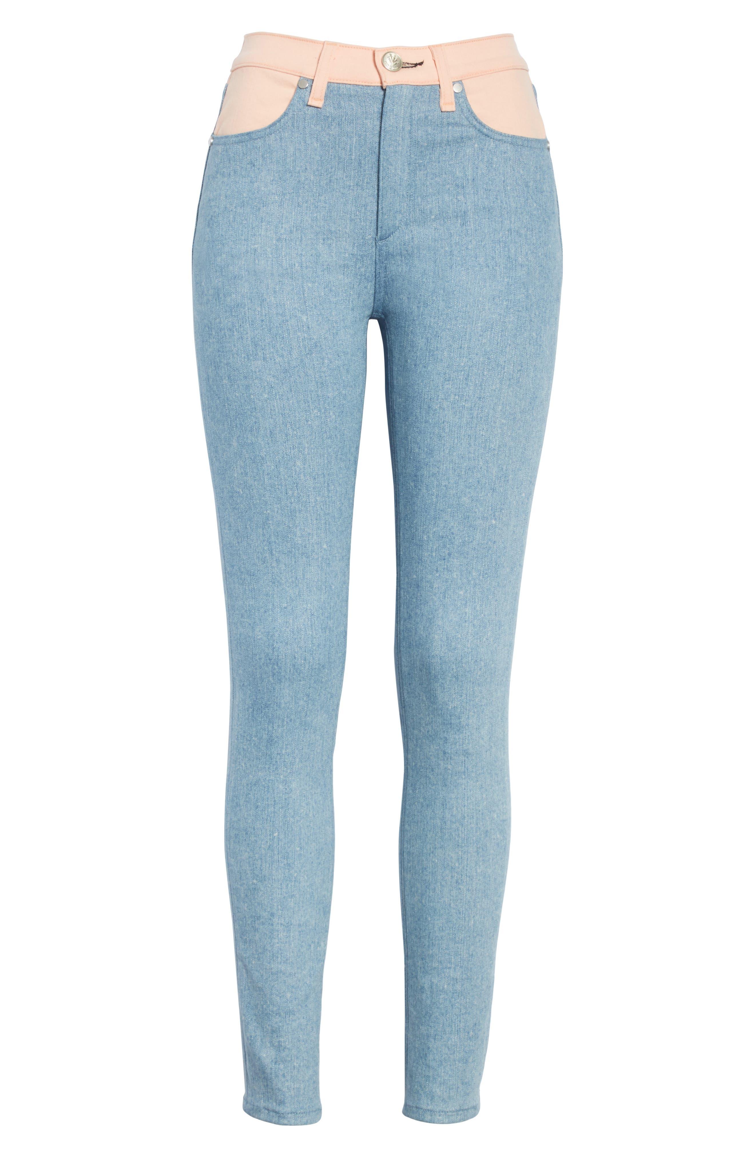 Phila Skinny Jeans,                             Alternate thumbnail 6, color,                             Nelly/ Prairie