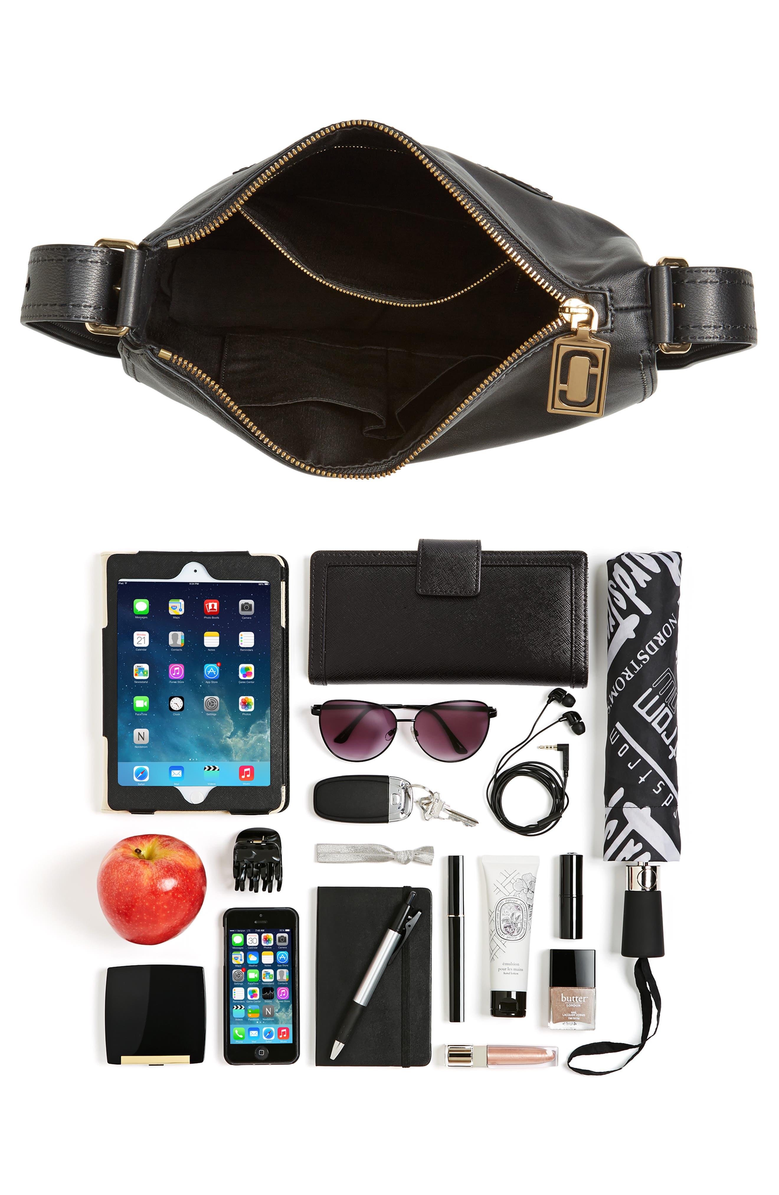 Downtown Stud Leather Shoulder Bag,                             Alternate thumbnail 6, color,