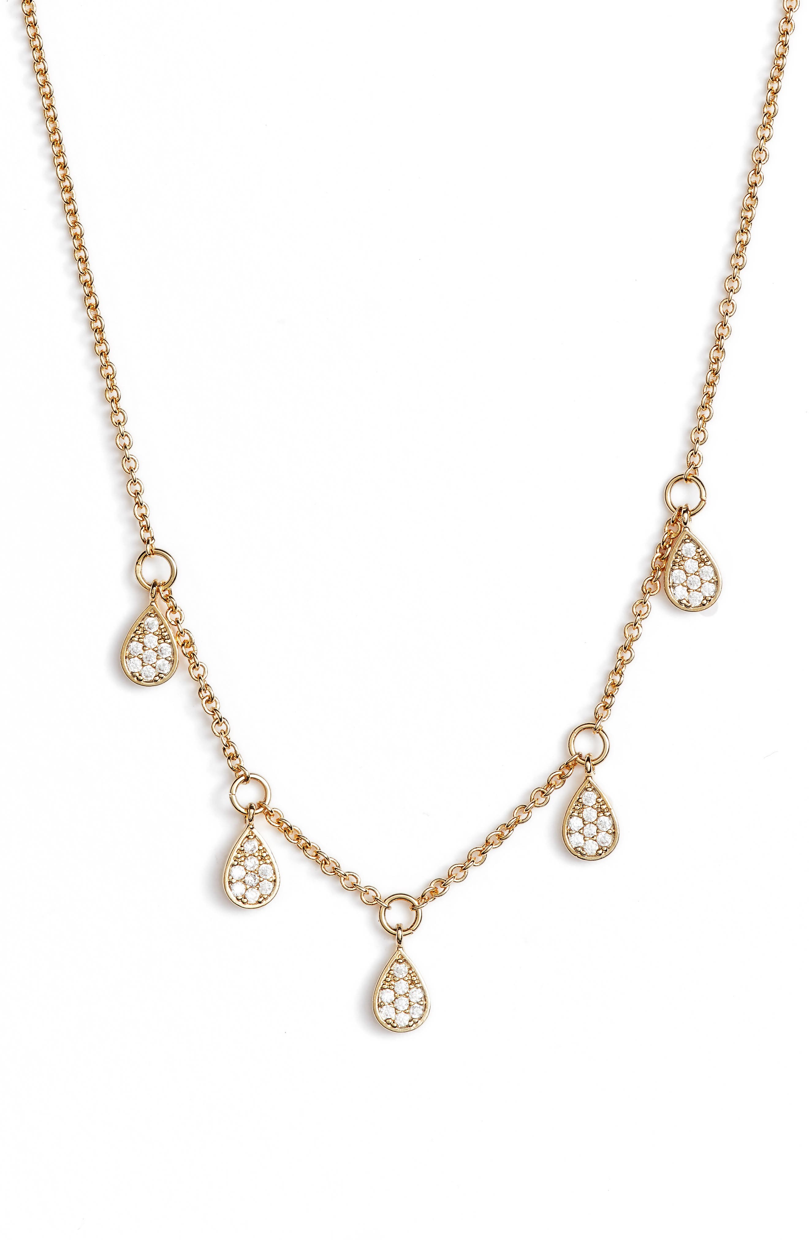Dewdrop Lariat Necklace,                             Alternate thumbnail 2, color,                             Gold