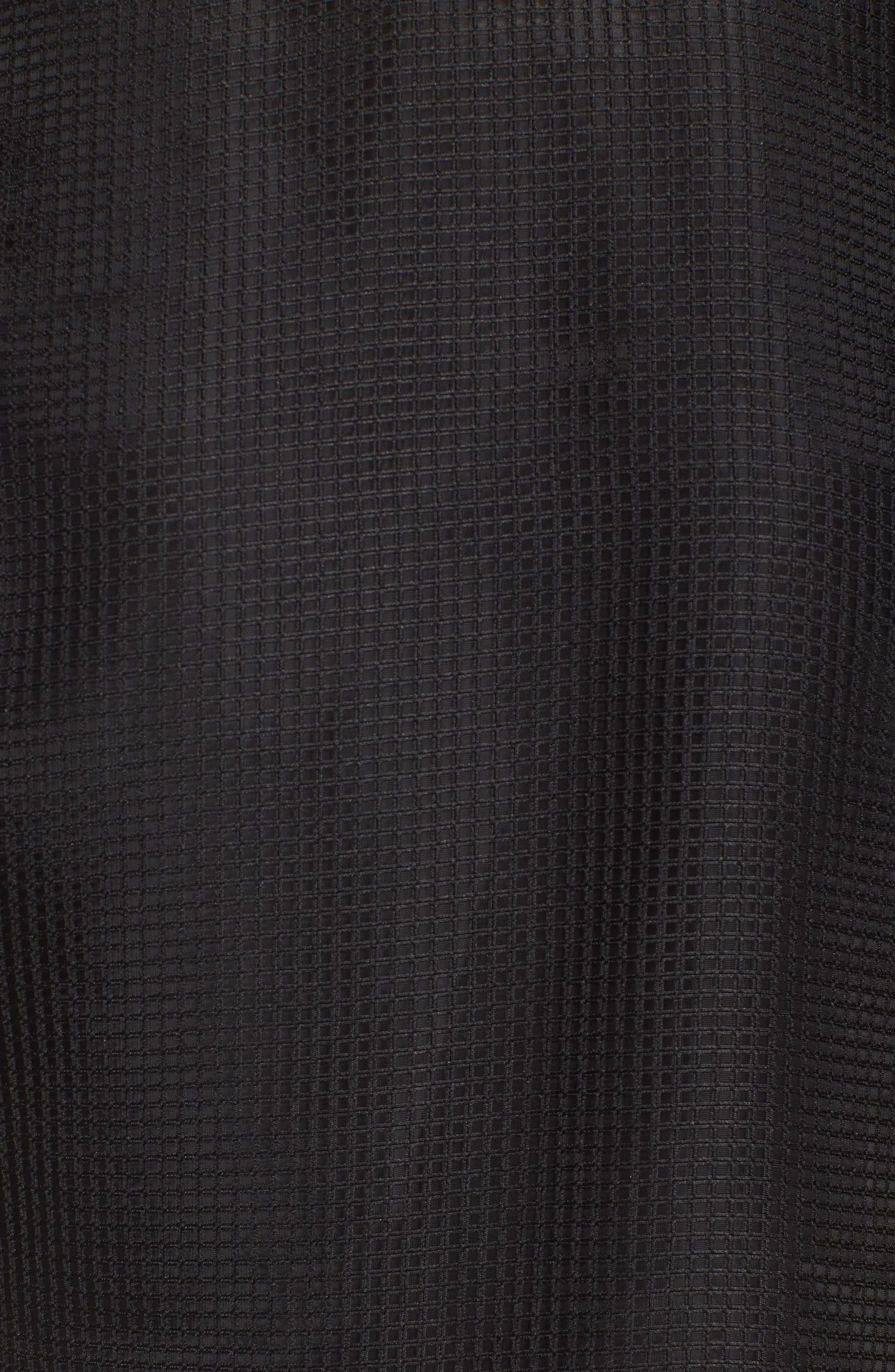 Mesh Layered Top,                             Alternate thumbnail 5, color,                             Black