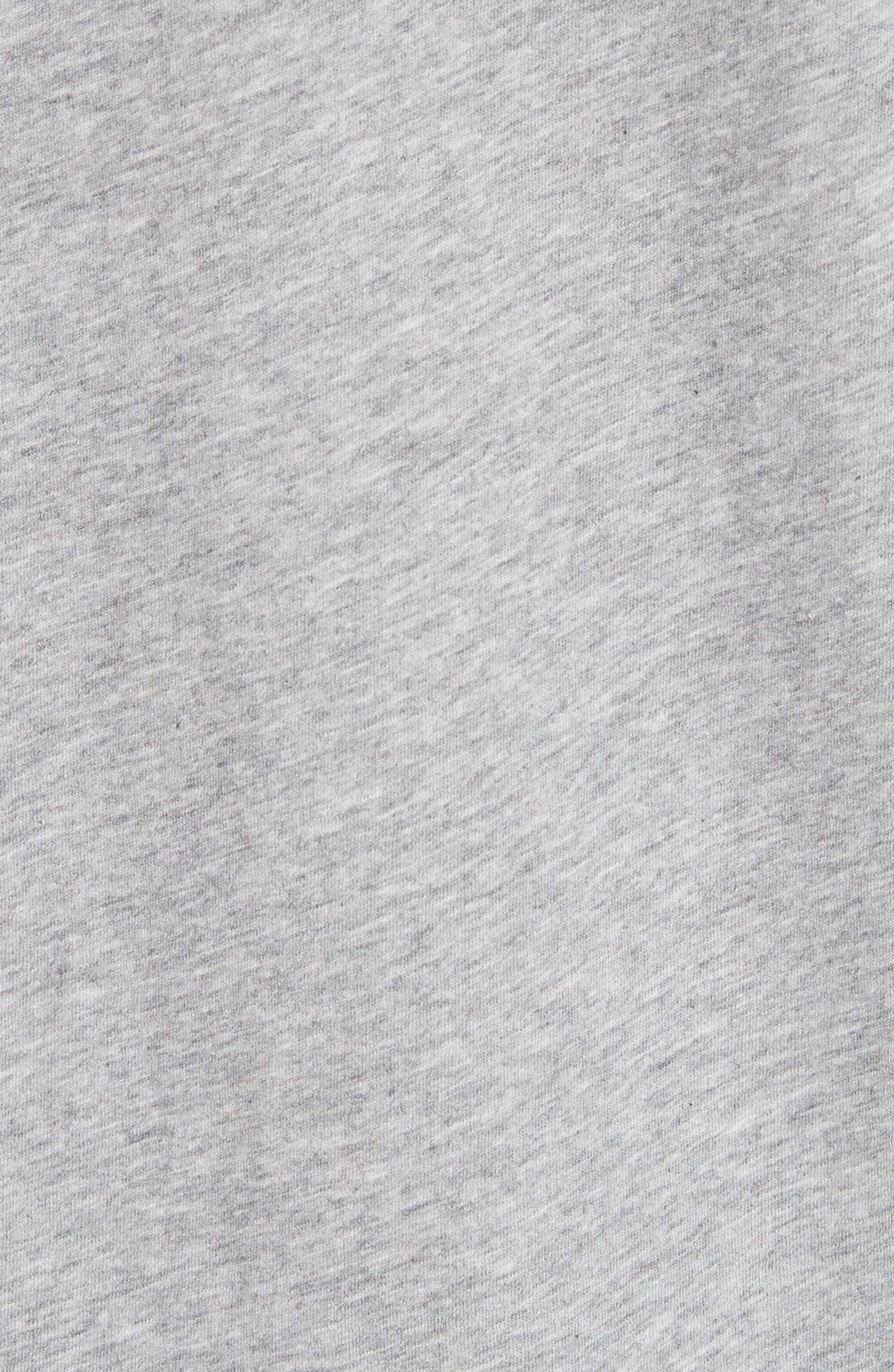 Doodle Print Cotton Tee,                             Alternate thumbnail 5, color,                             Pale Grey Melange