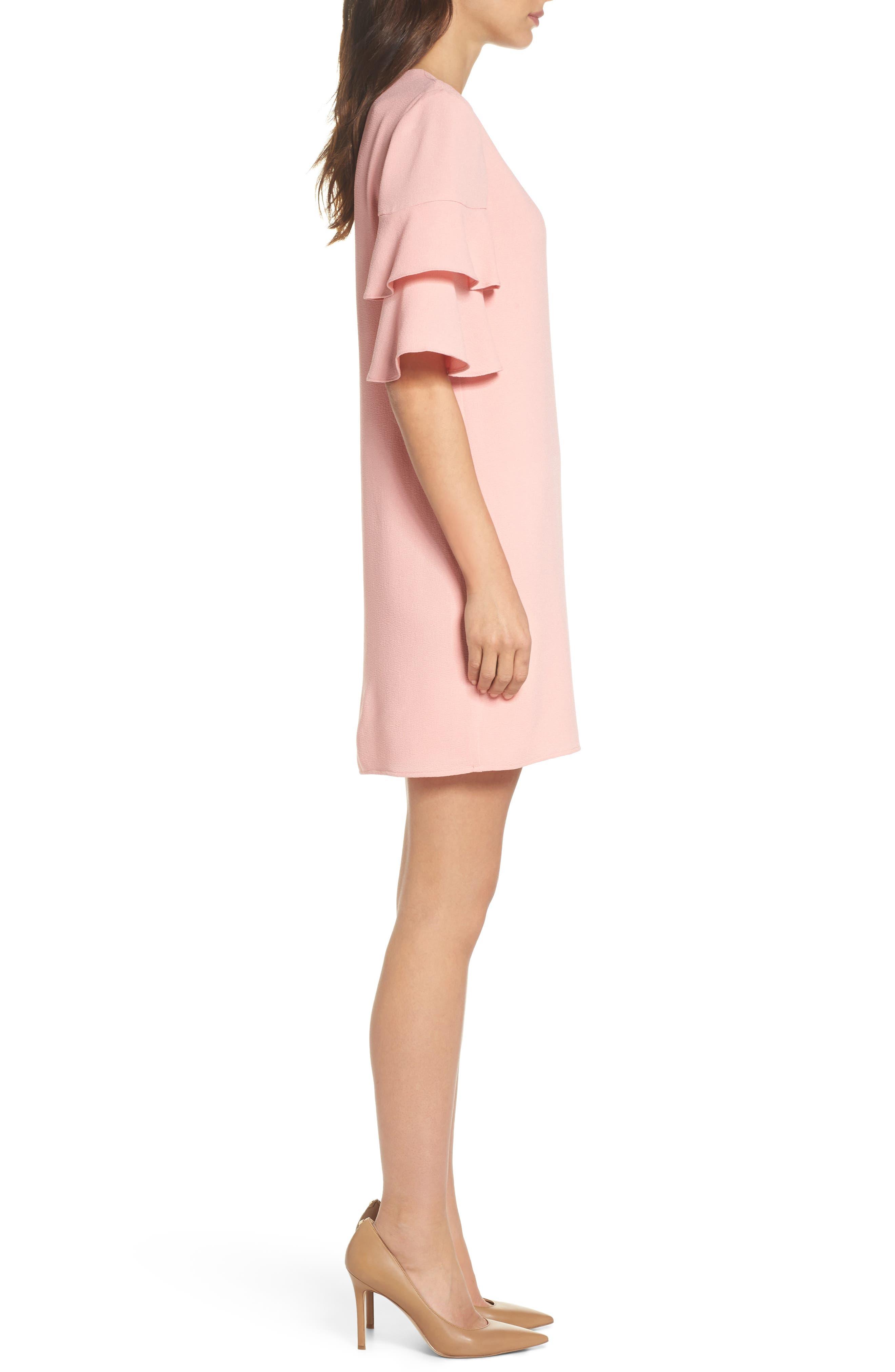 Alternate Image 3  - Charles Henry Ruffle Sleeve Shift Dress (Regular & Petite)