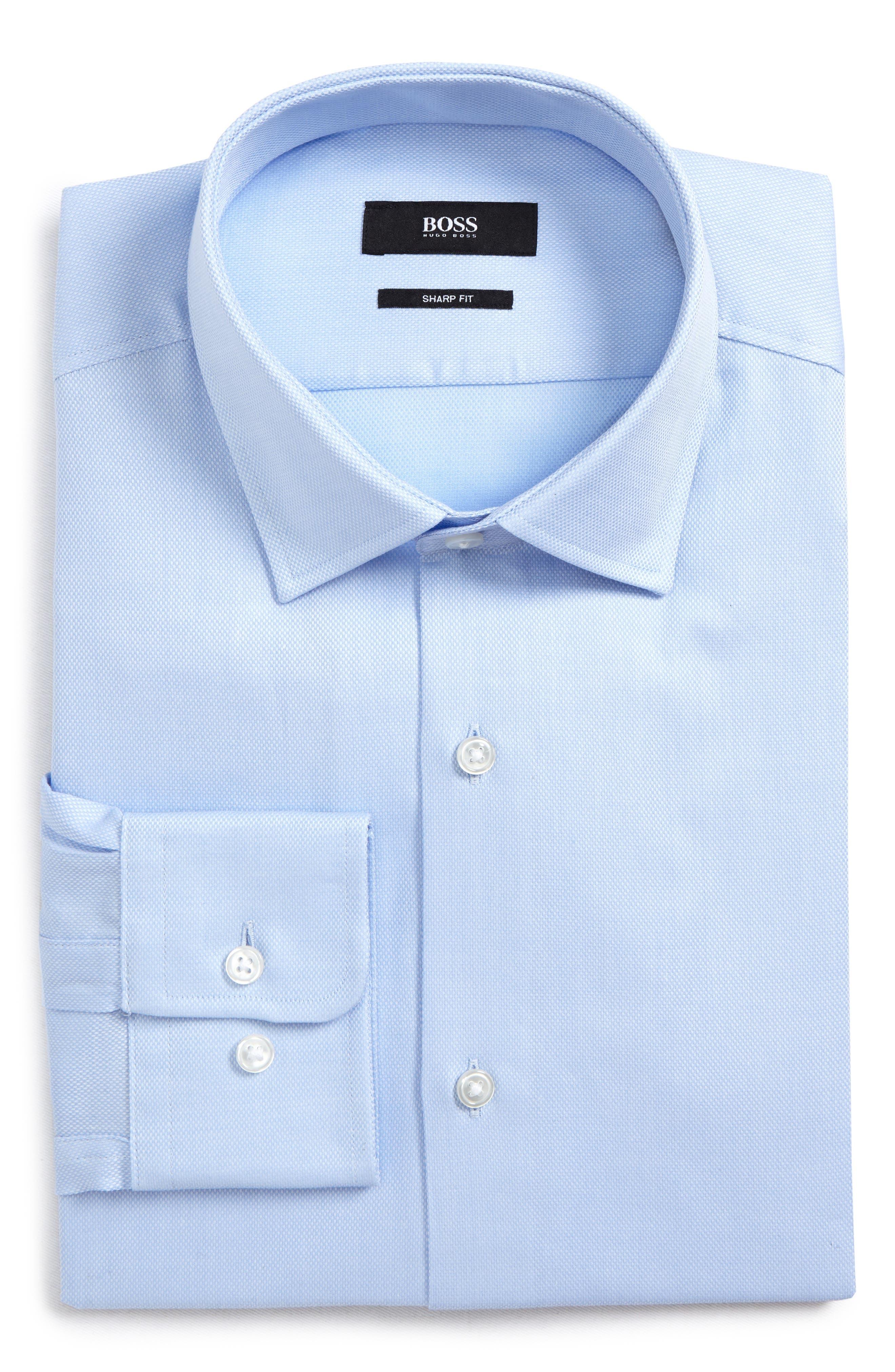 Marley Sharp Fit Dress Shirt,                             Main thumbnail 1, color,                             Blue
