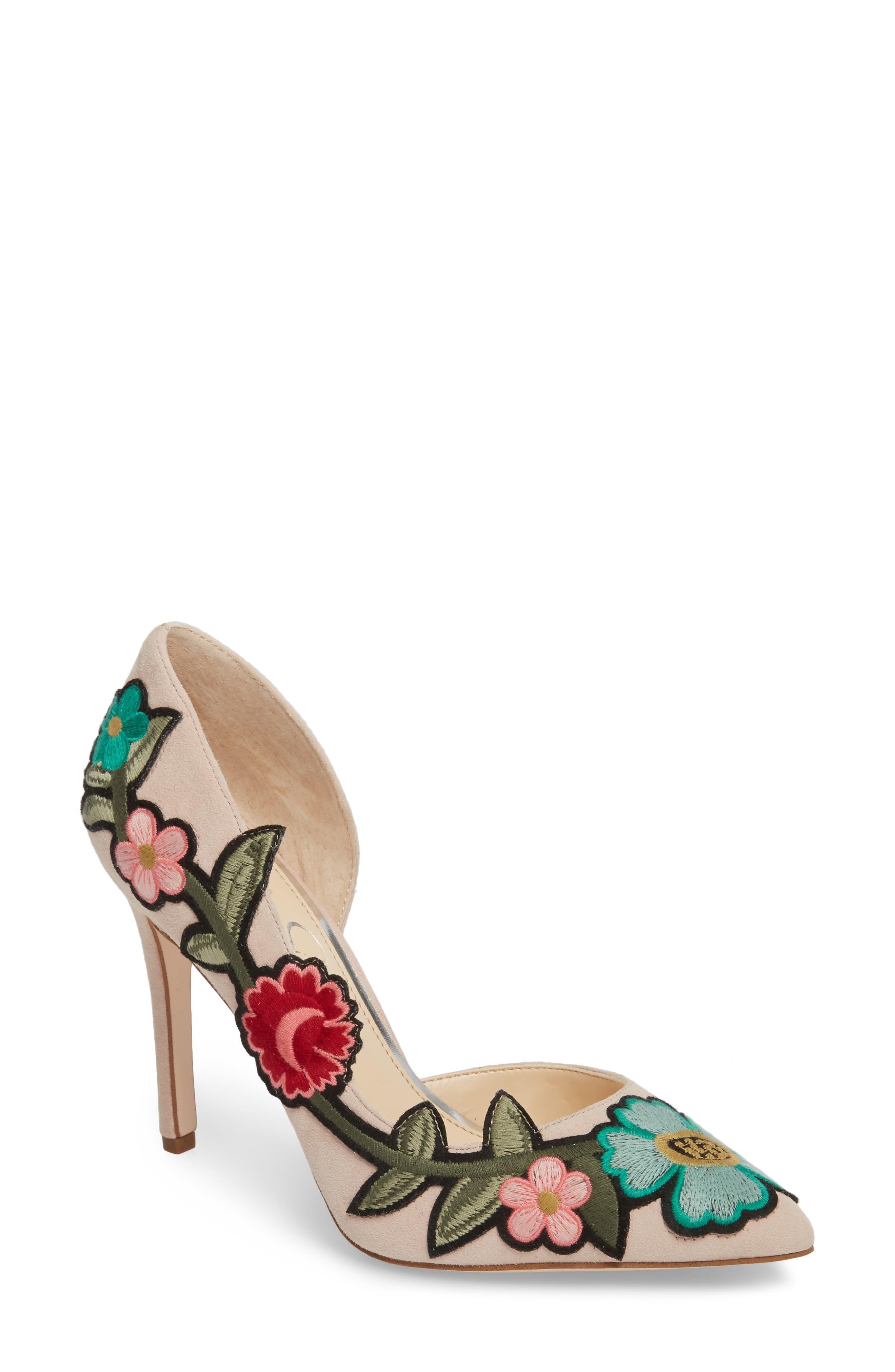 Jessica Simpson Pristina Floral Appliqué Pump (Women)