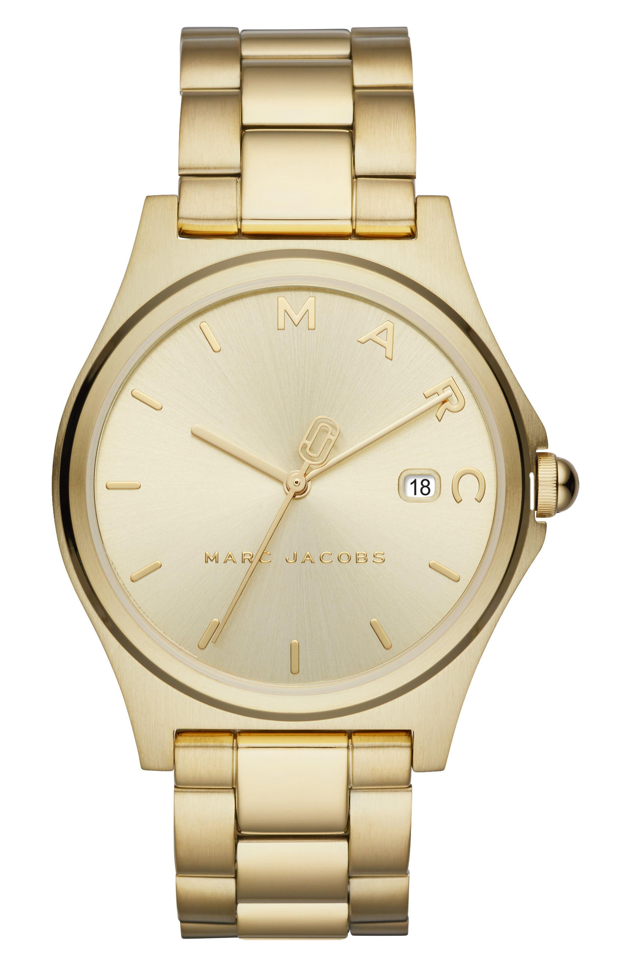 Henry Bracelet Watch, 39mm,                             Main thumbnail 1, color,                             Gold