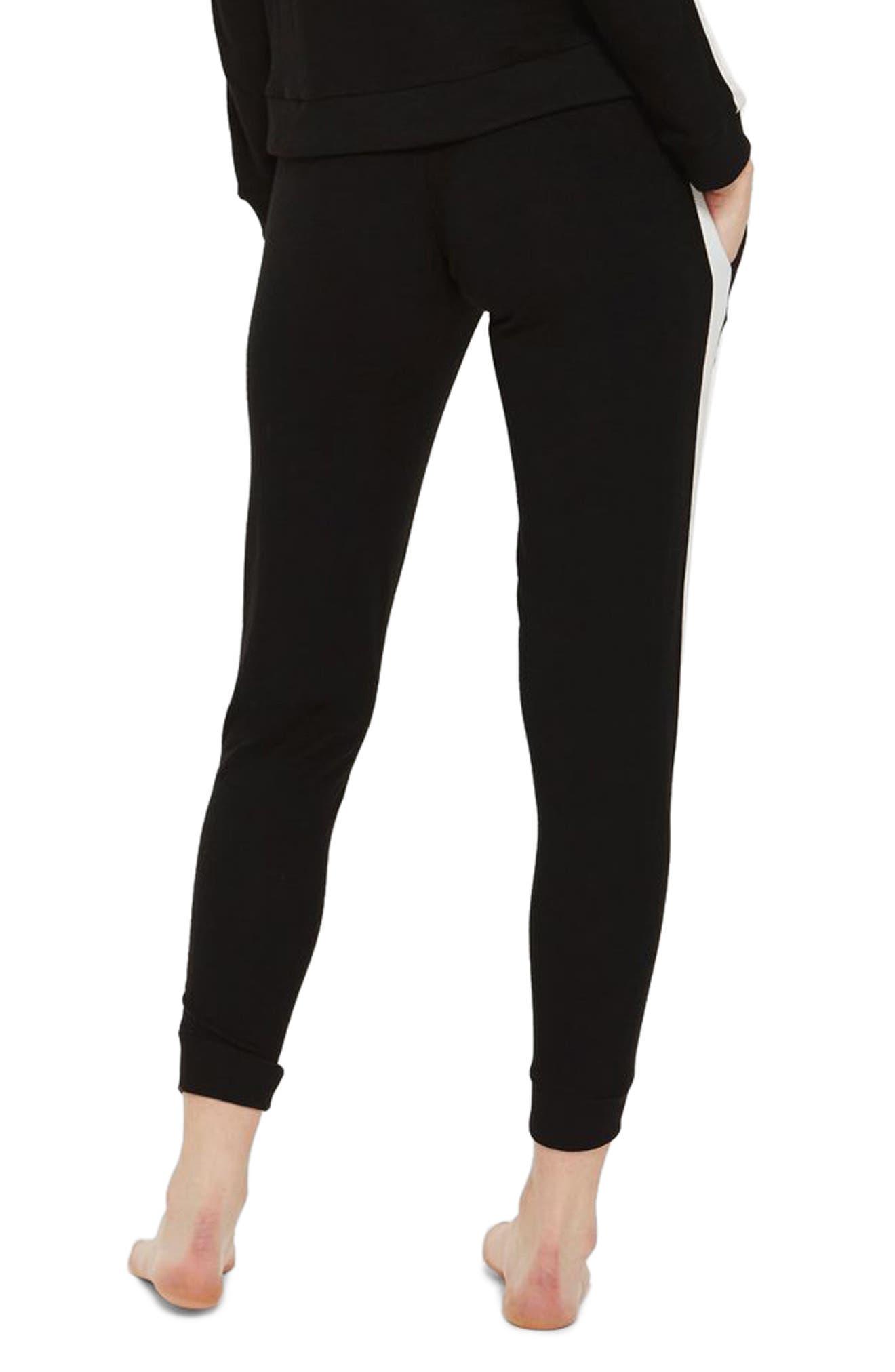 Side Stripe Jogger Pants,                             Alternate thumbnail 2, color,                             Black Multi