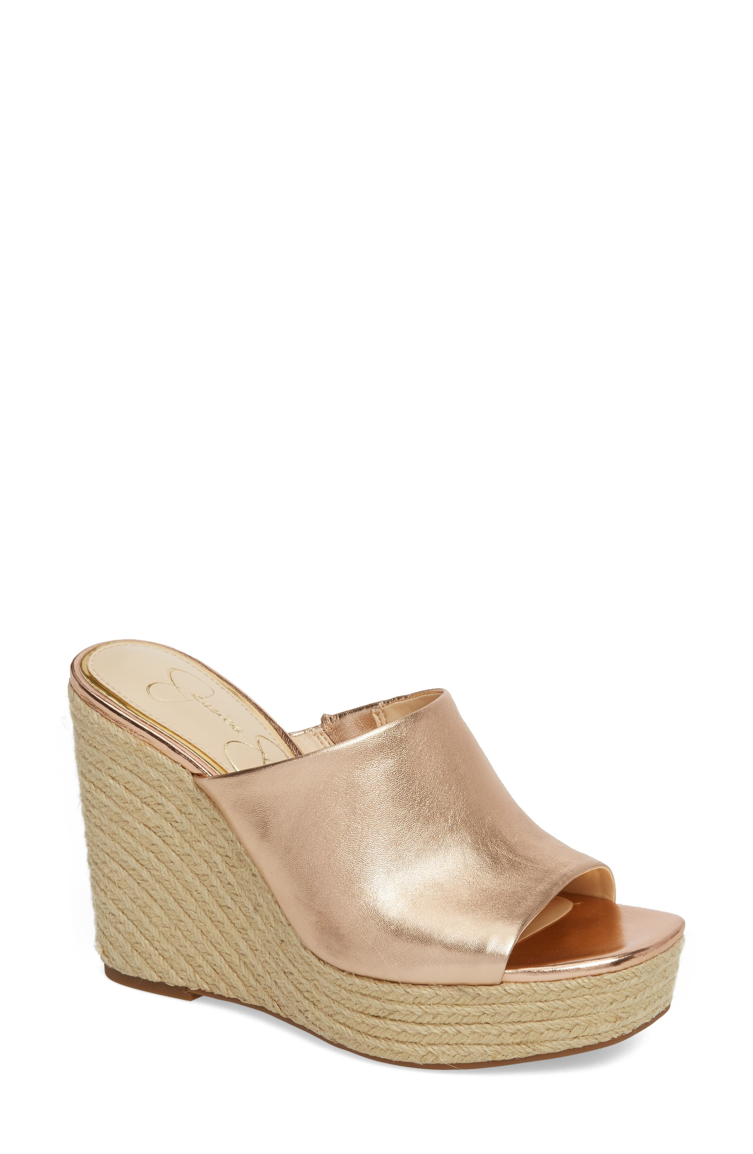 Sirella Platform Wedge Slide Sandal,                         Main,                         color, Pale Rose Go