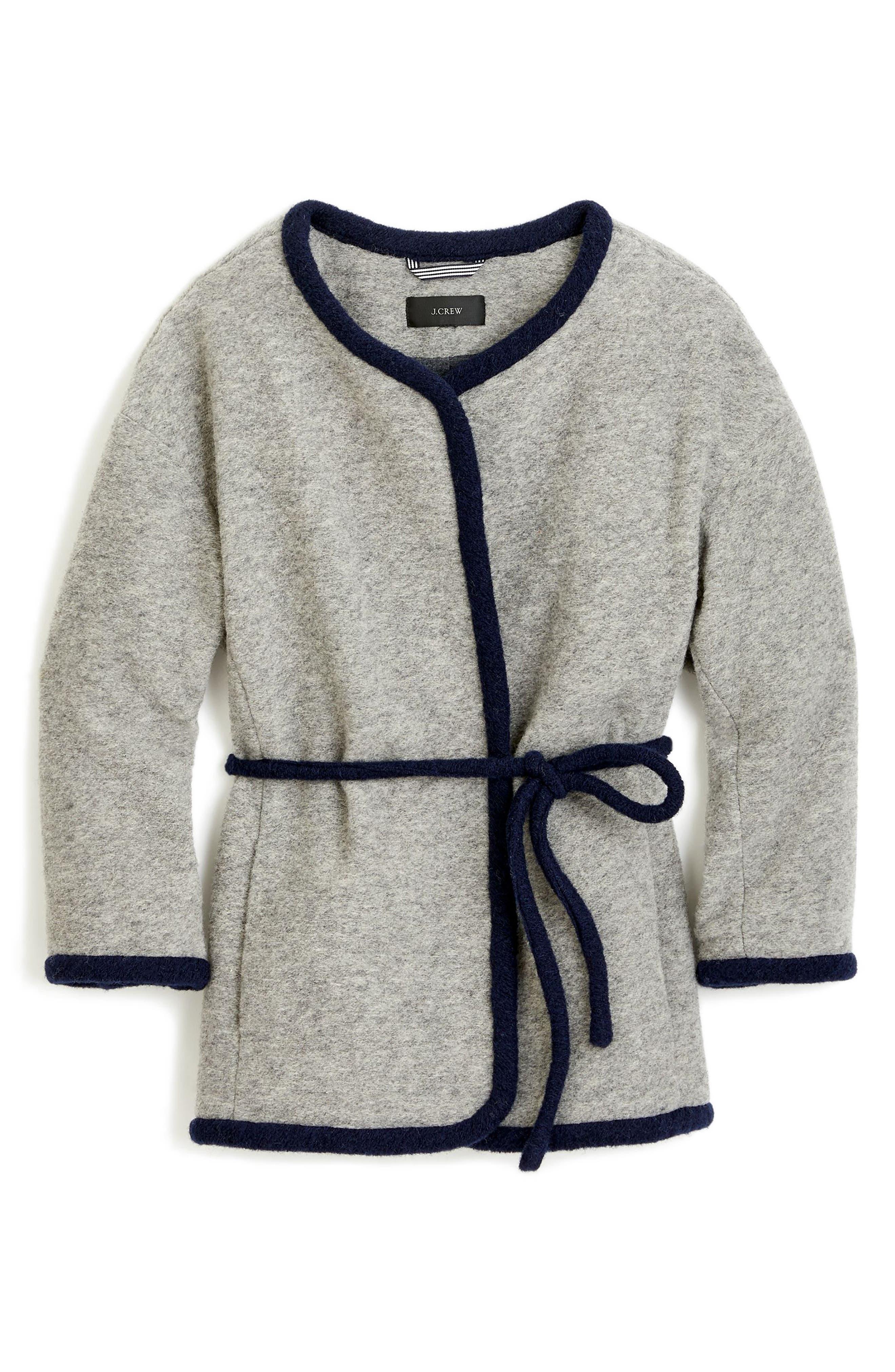 Branford Boiled Wool Blend Jacket,                             Alternate thumbnail 3, color,                             Heather Graphite