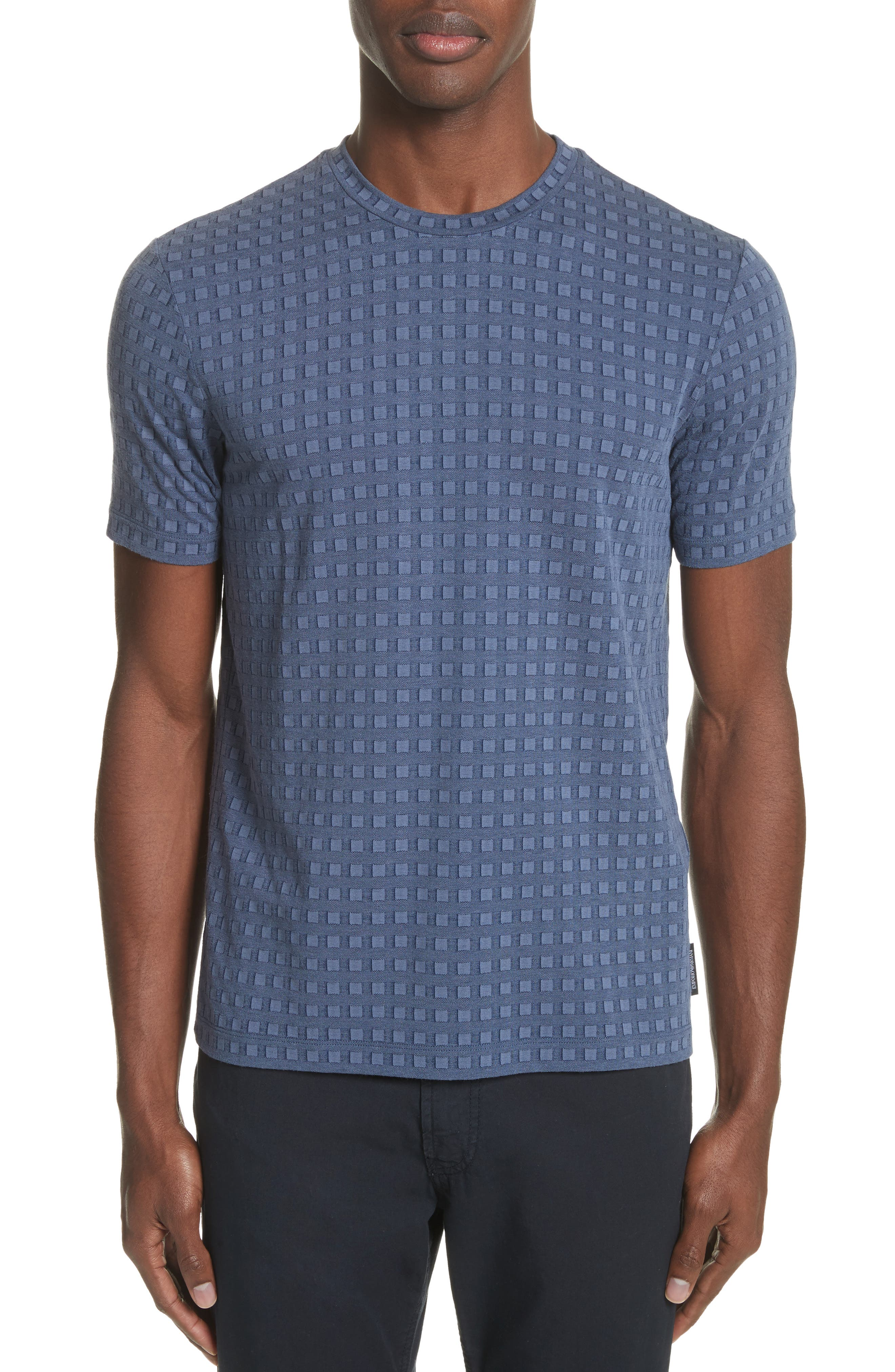 Slim Fit Geo Pattern Tee,                             Main thumbnail 1, color,                             Blue / Indaco