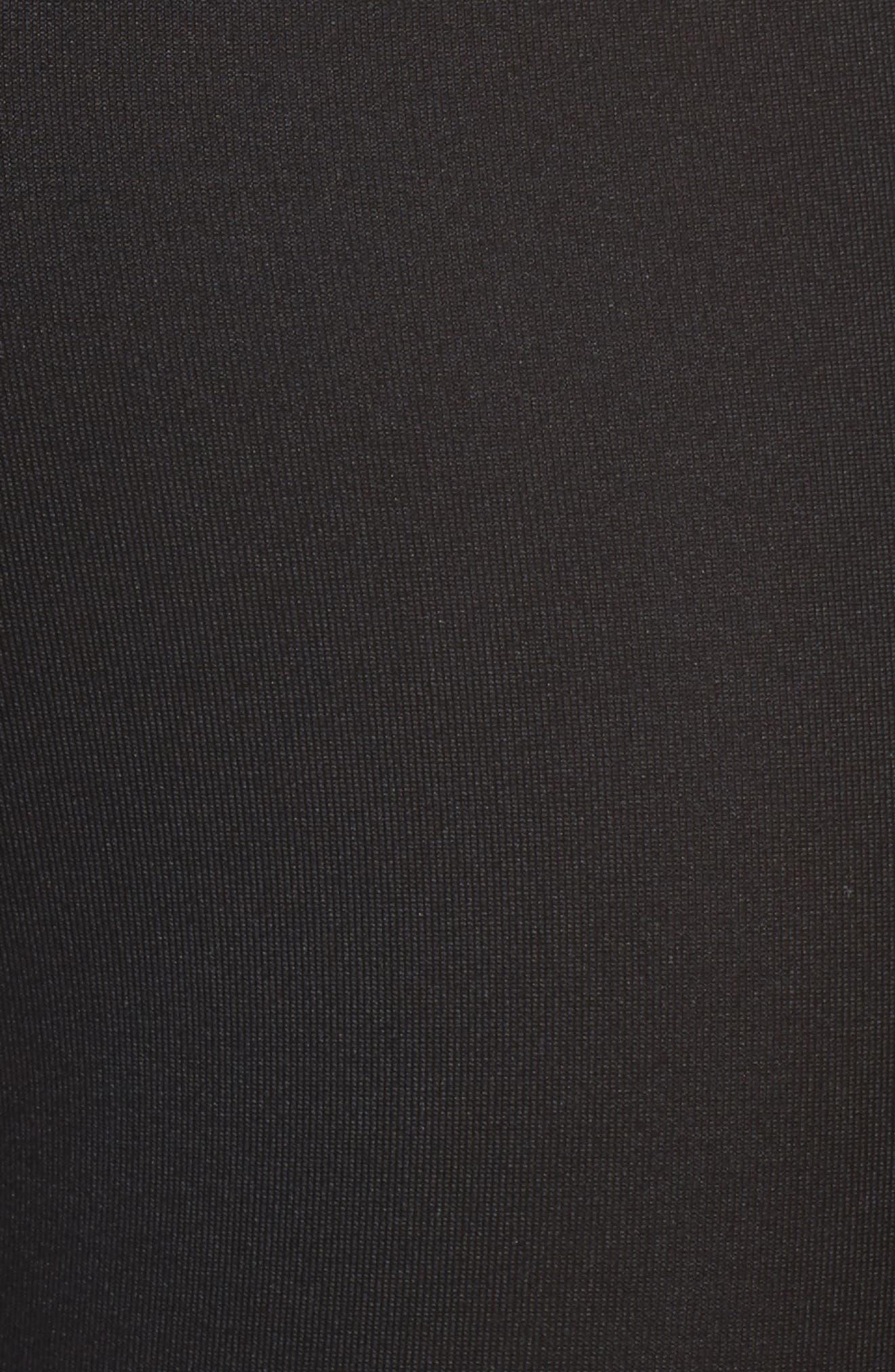 Essential Capri Leggings,                             Alternate thumbnail 3, color,                             Black