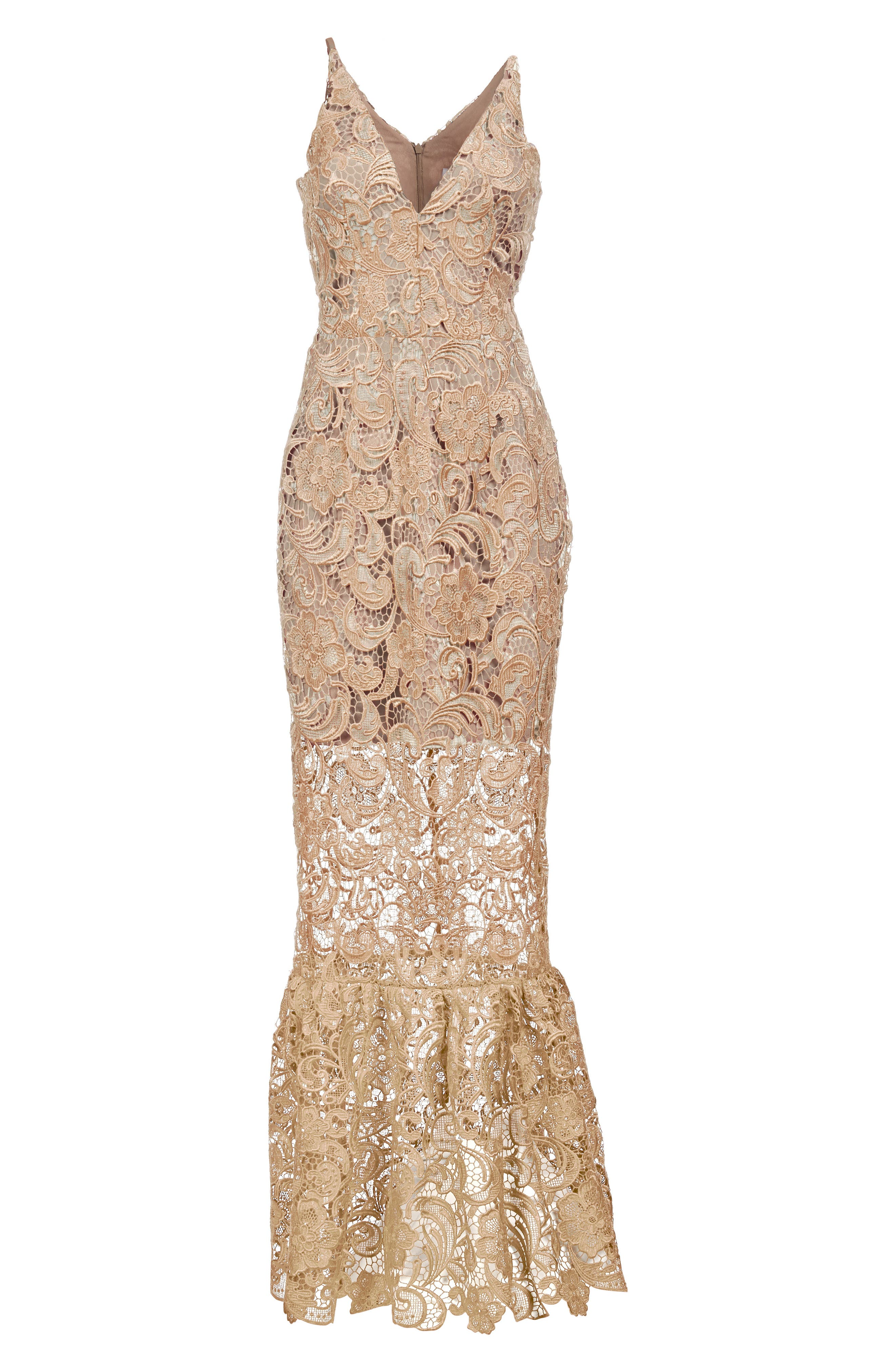 Alternate Image 6  - Dress the Population Sophia Crochet Lace Mermaid Gown