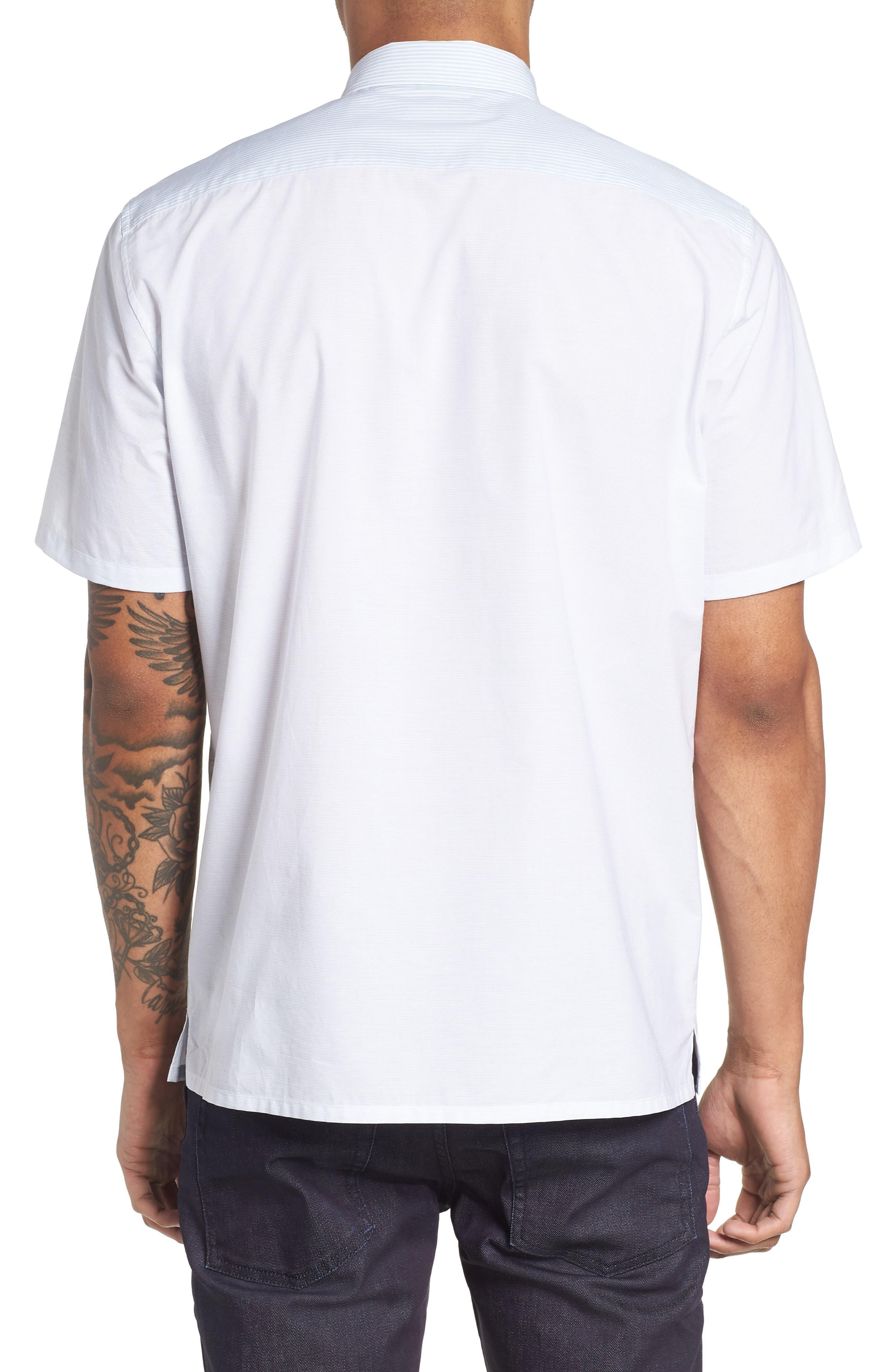 Murrary Regular Fit Stripe Short Sleeve Sport Shirt,                             Alternate thumbnail 2, color,                             Breeze Multi