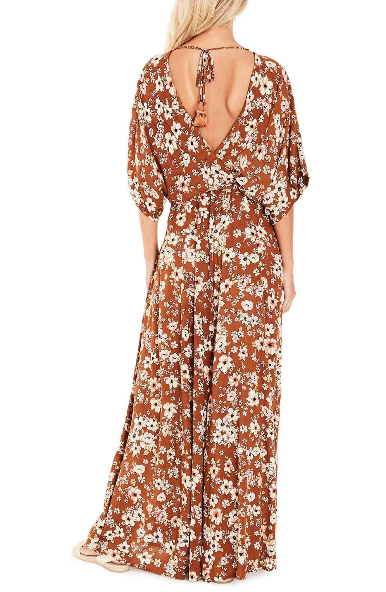 Bergamo Maxi Wrap Dress,                             Alternate thumbnail 2, color,                             Cecile Rose