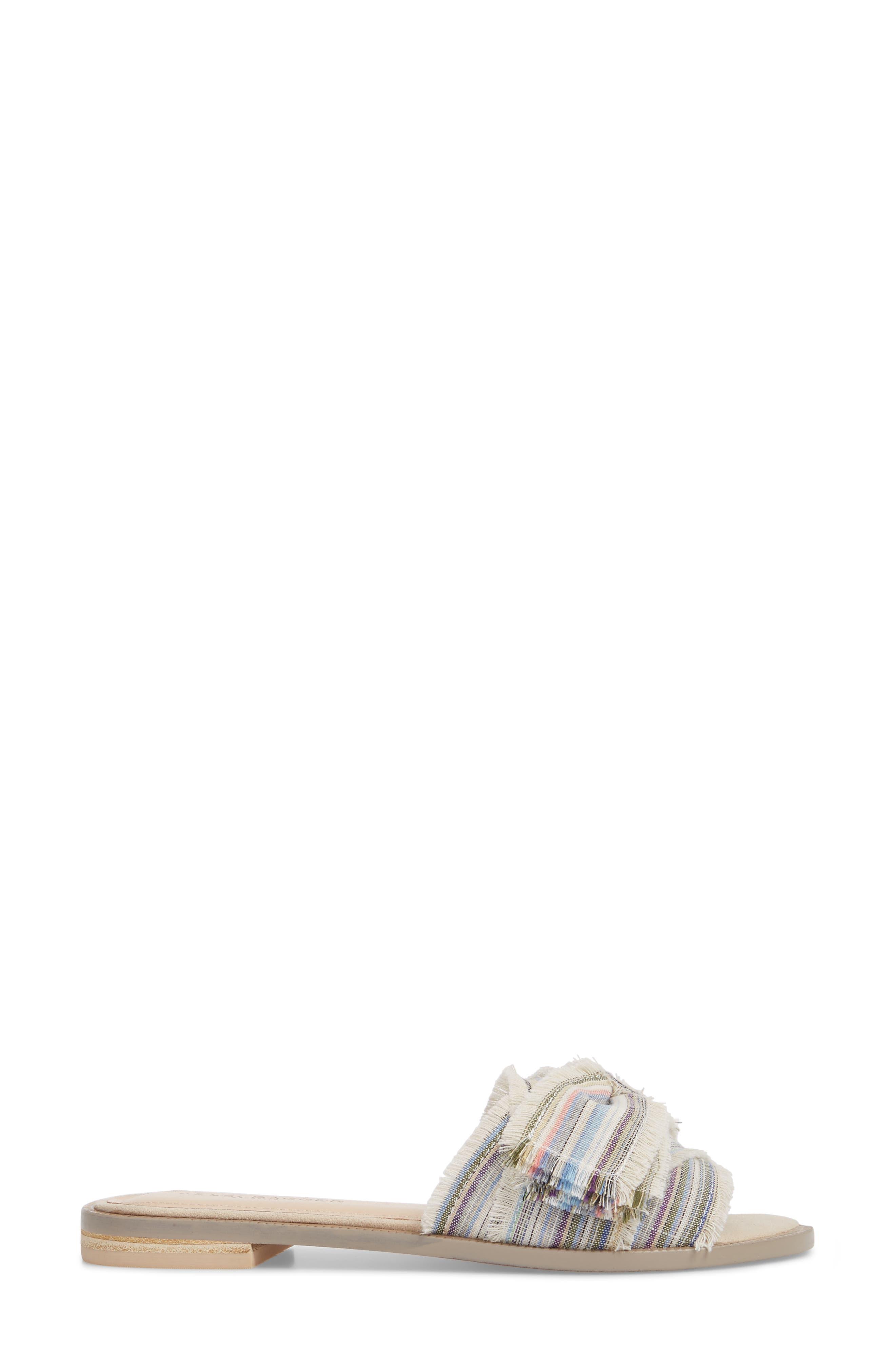Revere Bow Slide Sandal,                             Alternate thumbnail 3, color,                             Bone/ Multi