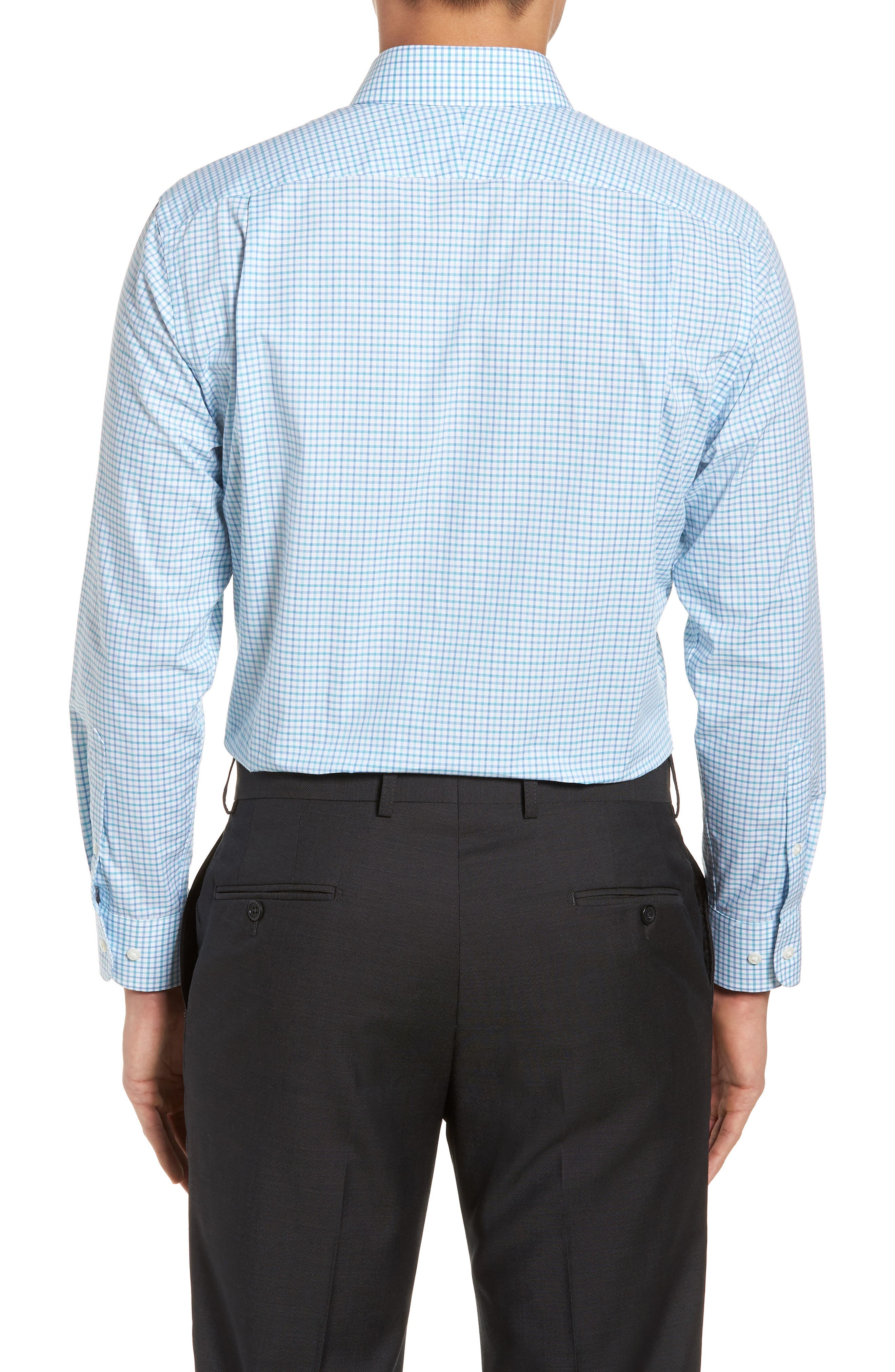 Alternate Image 3  - Nordstrom Men's Shop Trim Fit Check Dress Shirt