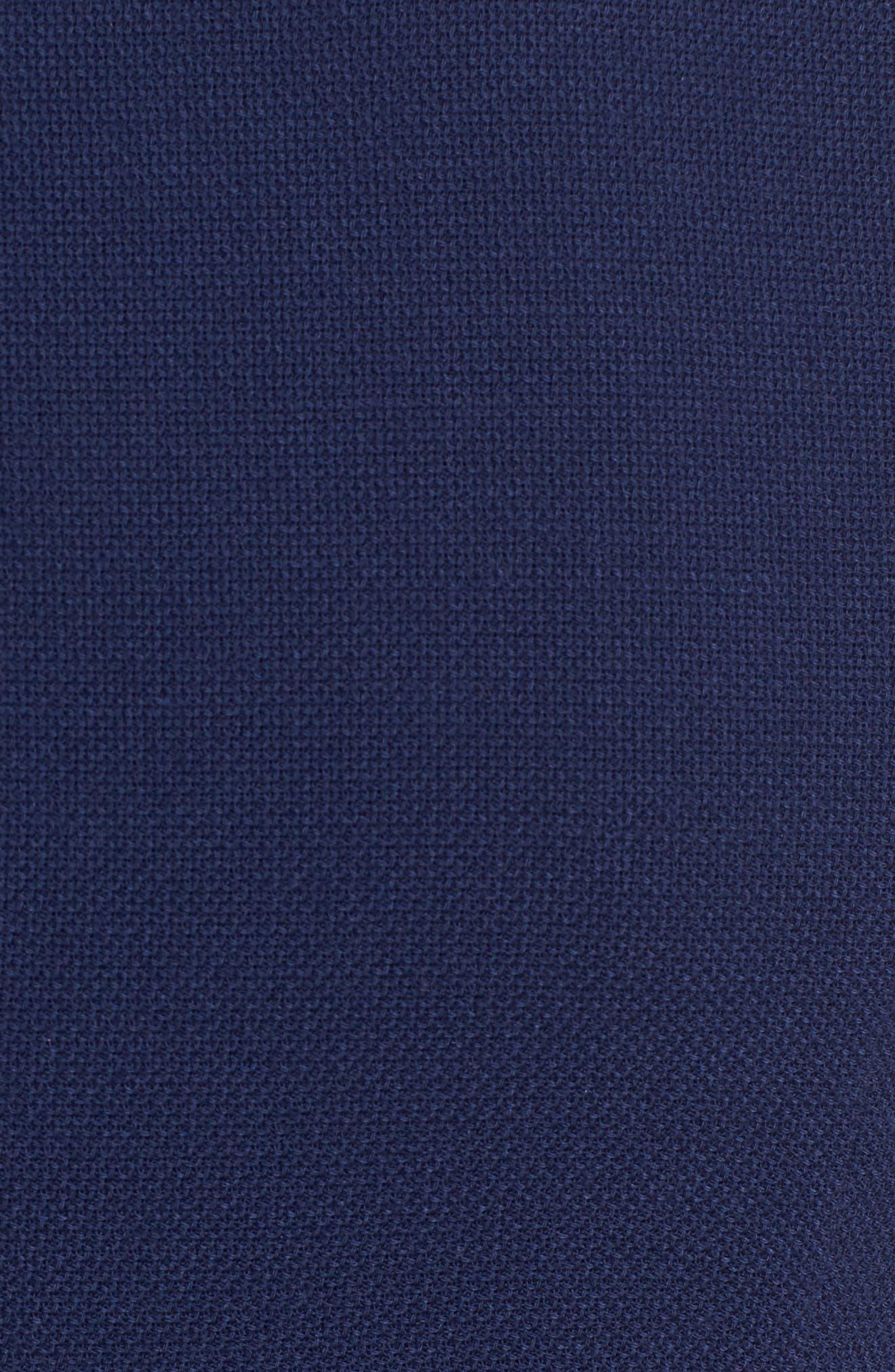 Dibalena Texture Stretch Dress,                             Alternate thumbnail 5, color,                             Nautical