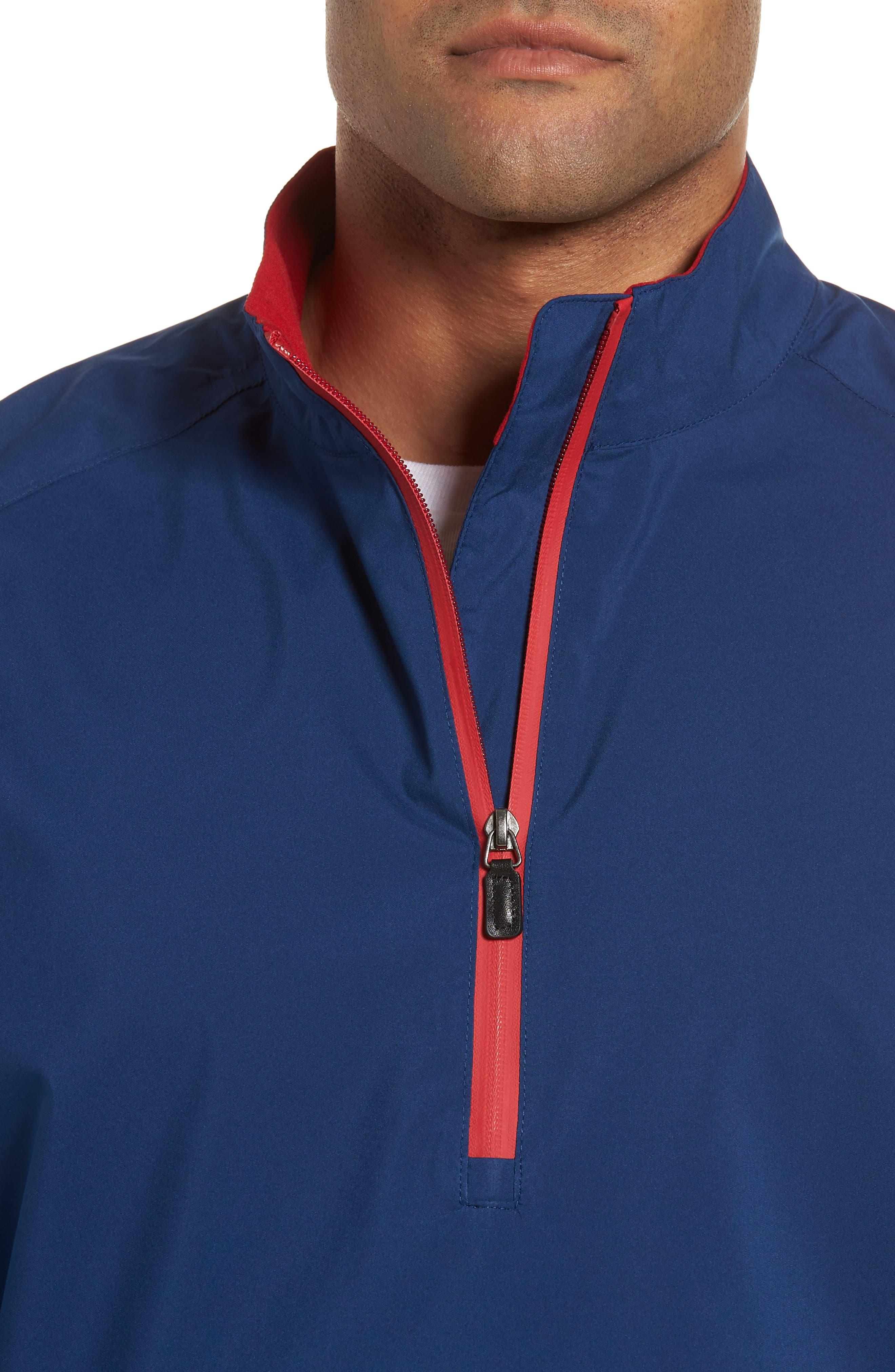 Regular Fit Half Zip Performance Pullover,                             Alternate thumbnail 4, color,                             Navy