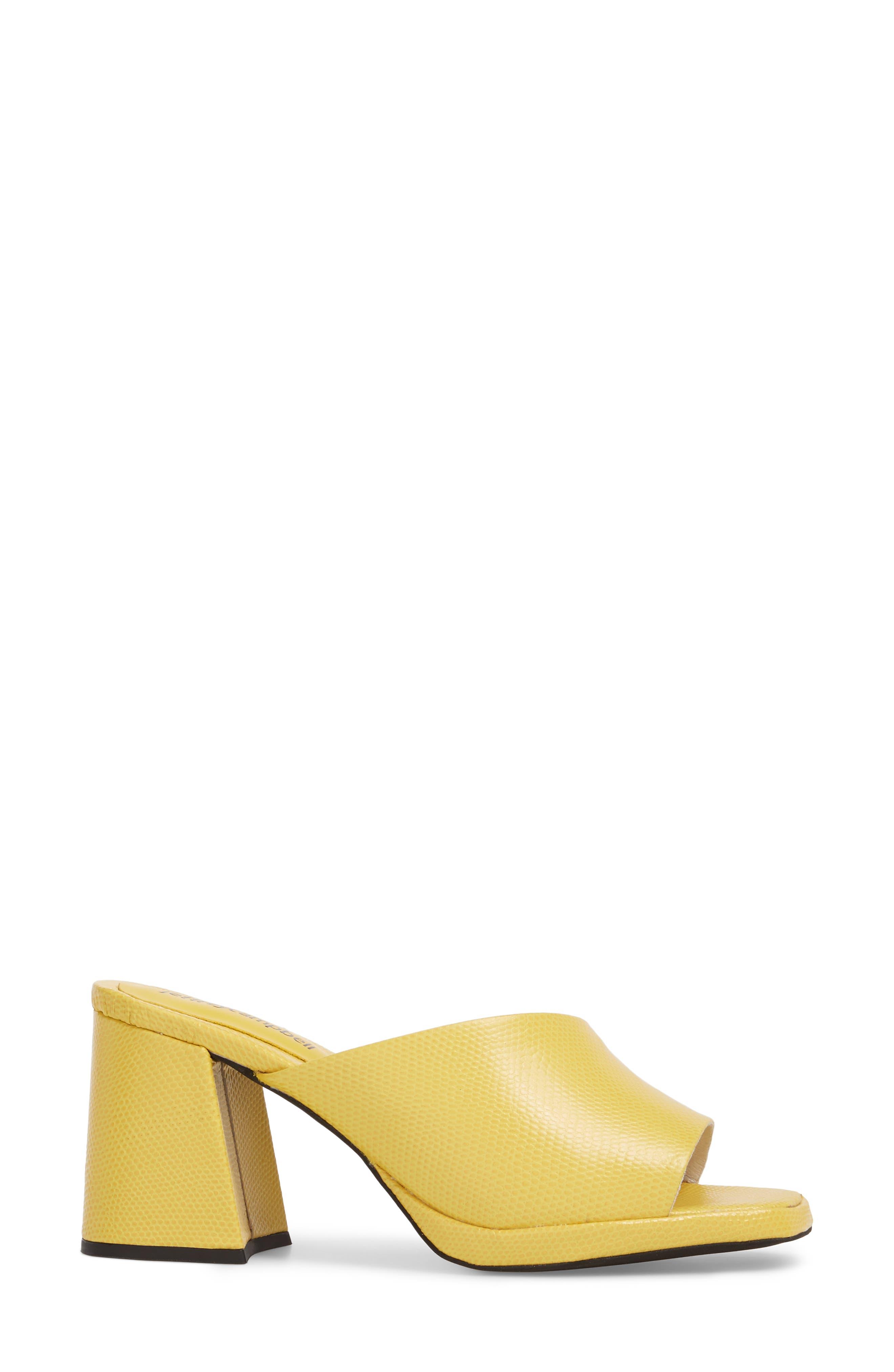 Suzuci Sandal,                             Alternate thumbnail 3, color,                             Yellow Leather