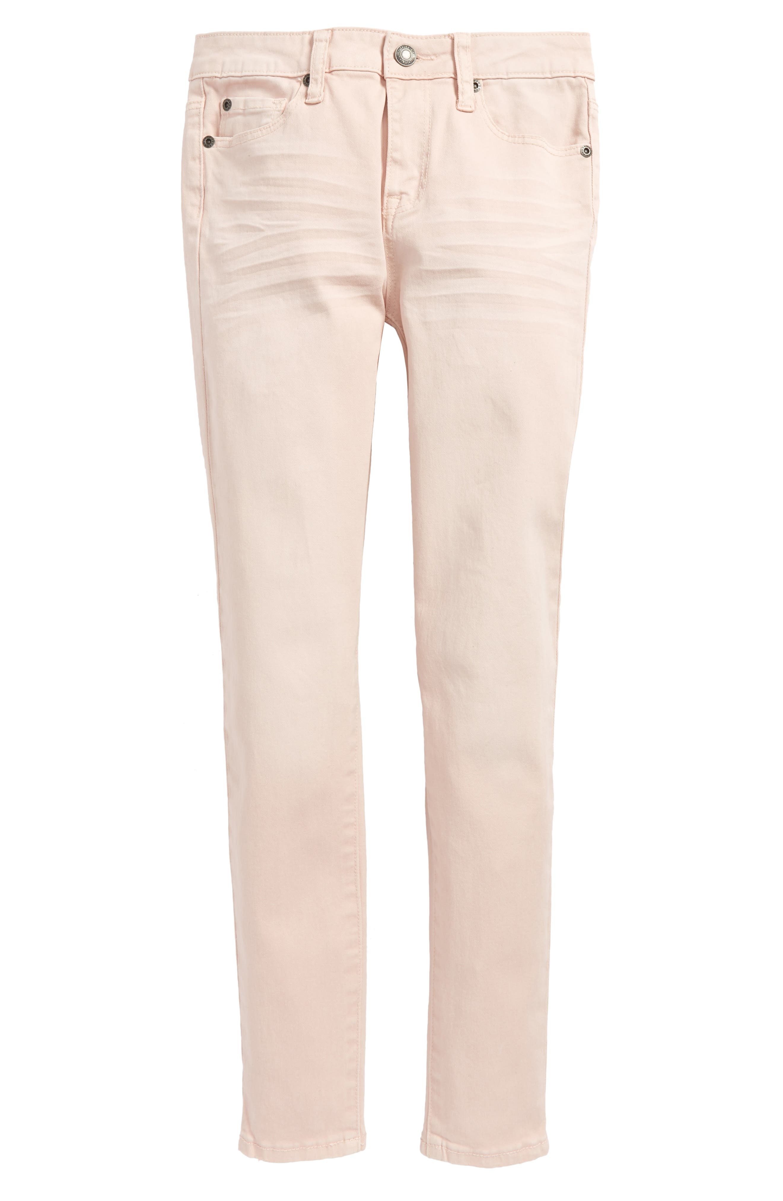 Colored Ankle Jeans,                             Main thumbnail 1, color,                             Pink Pixie Wash